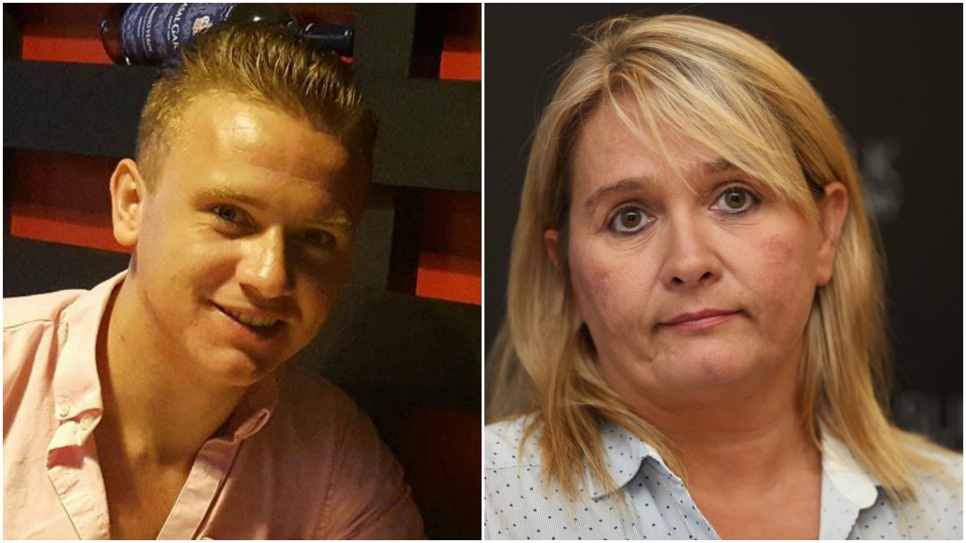 Corrie McKeague and his mum Nicola Urquhart.