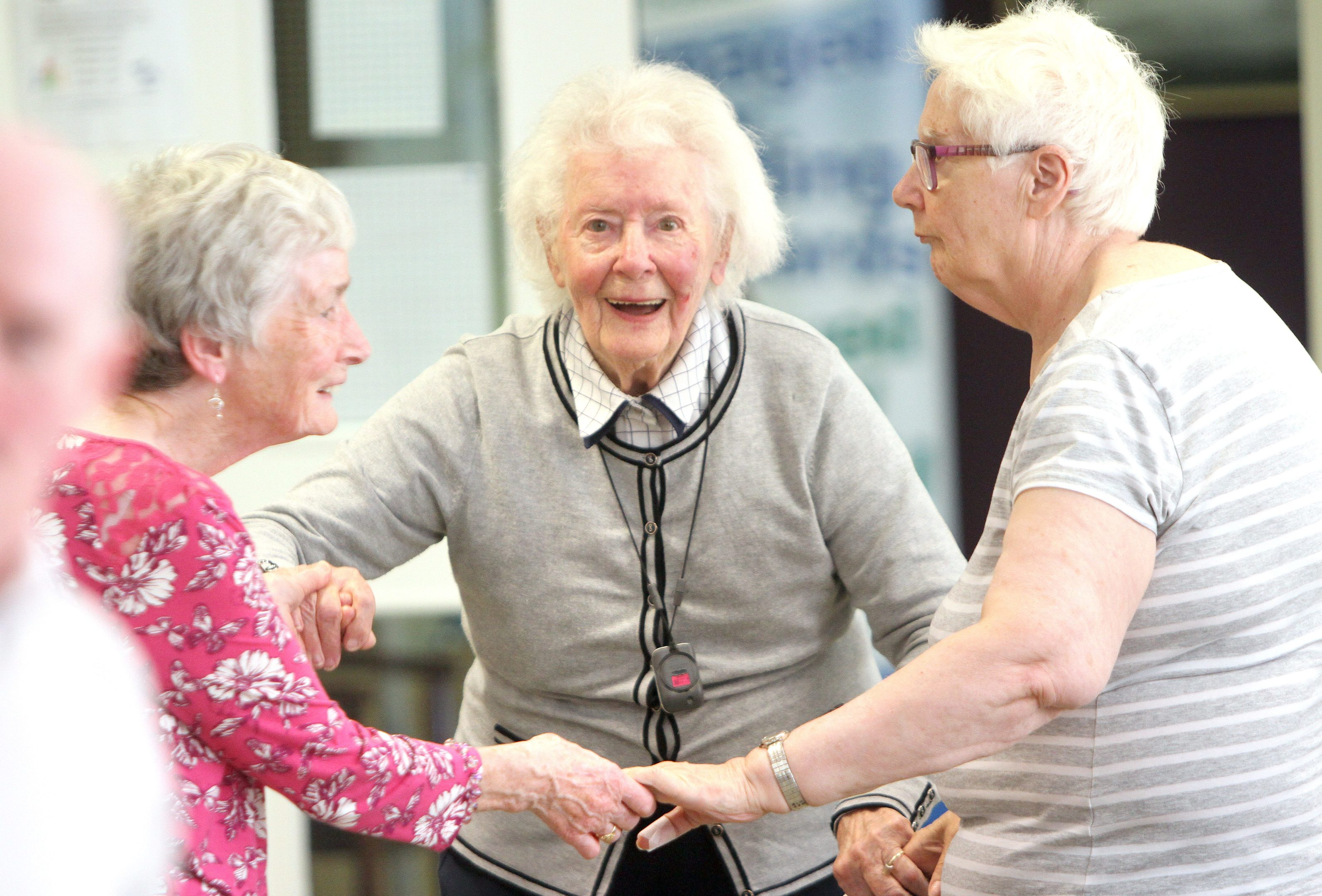 Clients enjoying entertainment at Dundee Age Concern