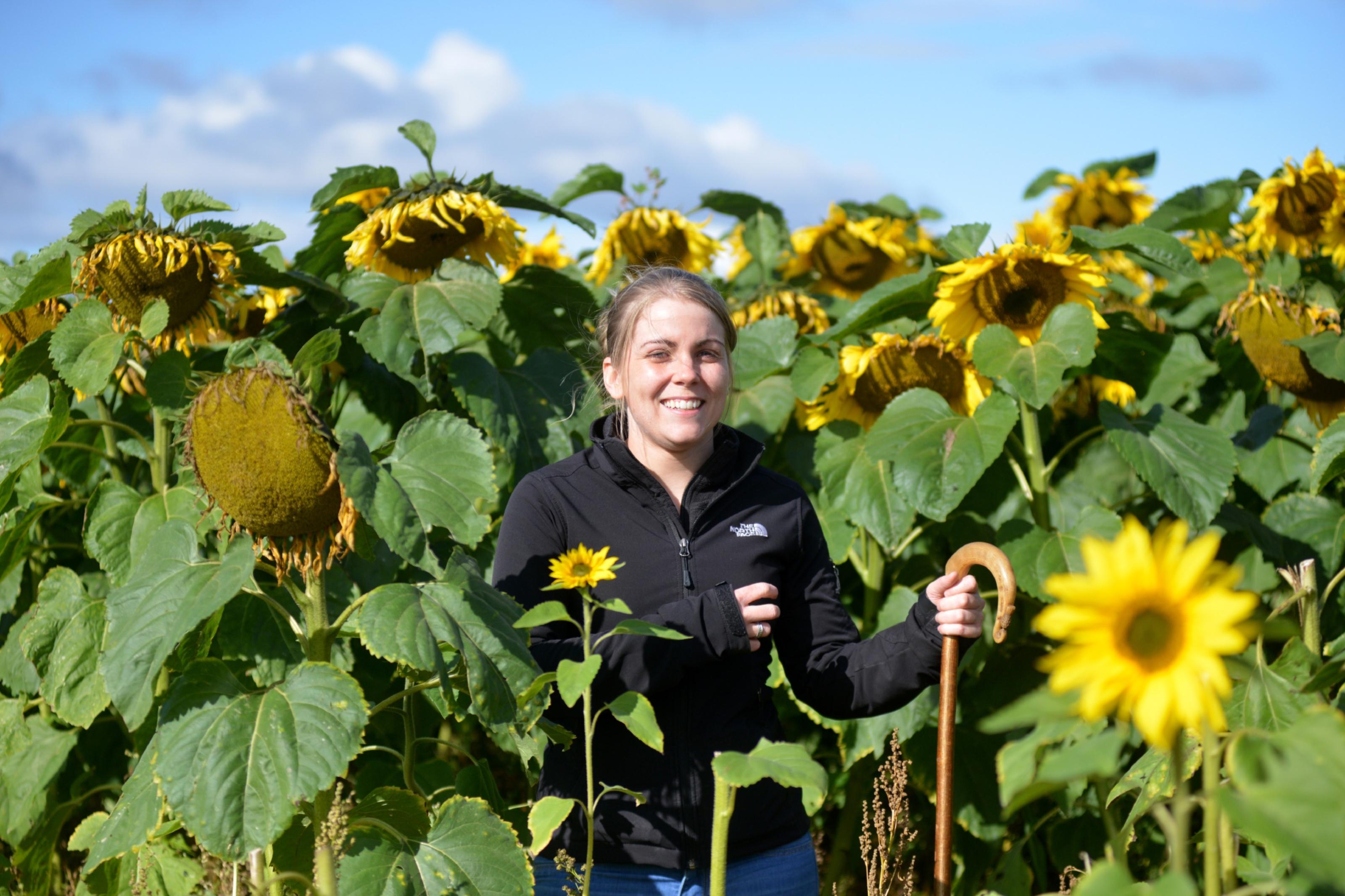 Claire Pollocks looks after four farms in Fife and runs Ardross Farm Shop.
