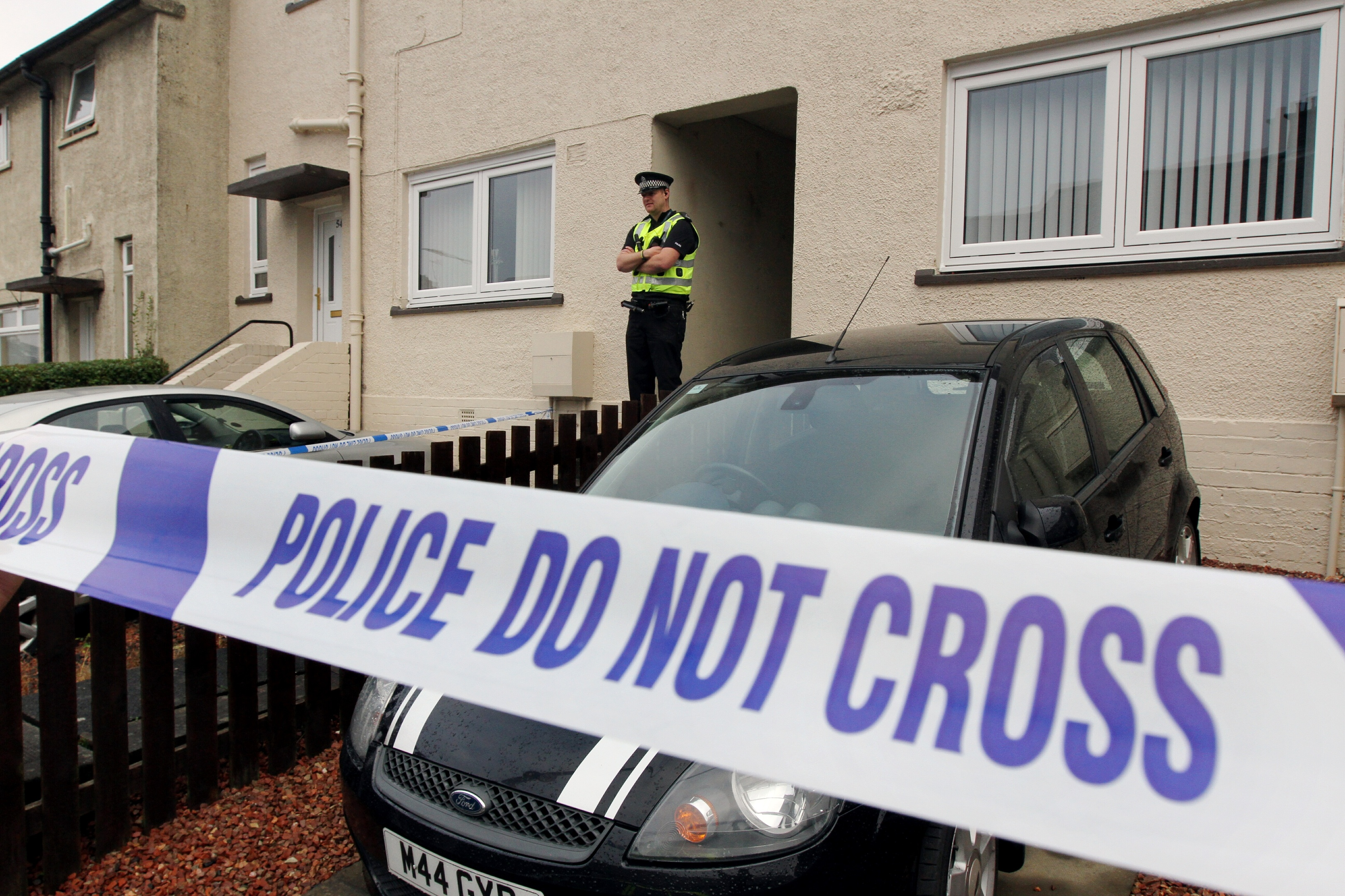 Police attended the property on Monday.