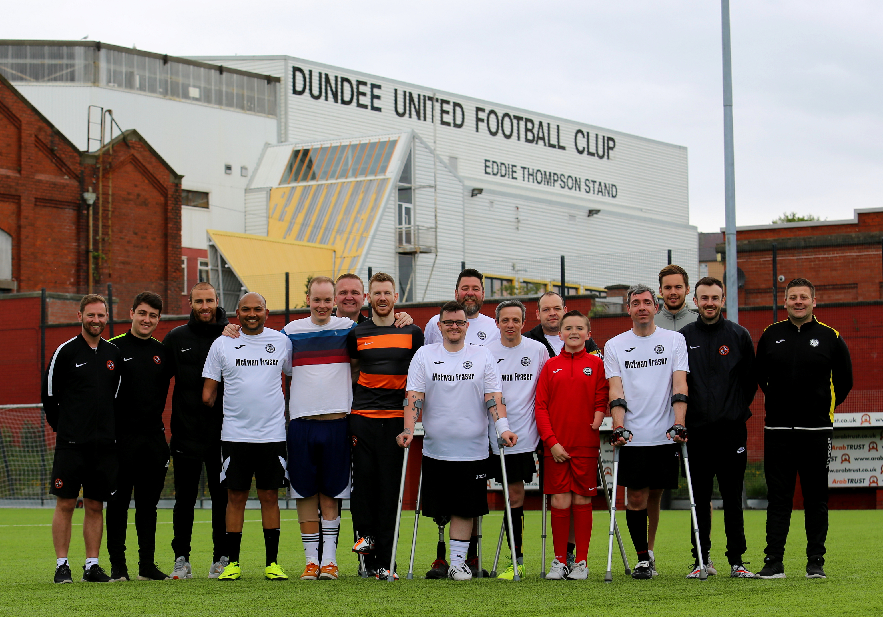 United held an amputee football taster session in May.