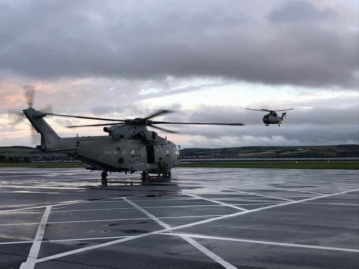 The Merlins at Dundee Airport