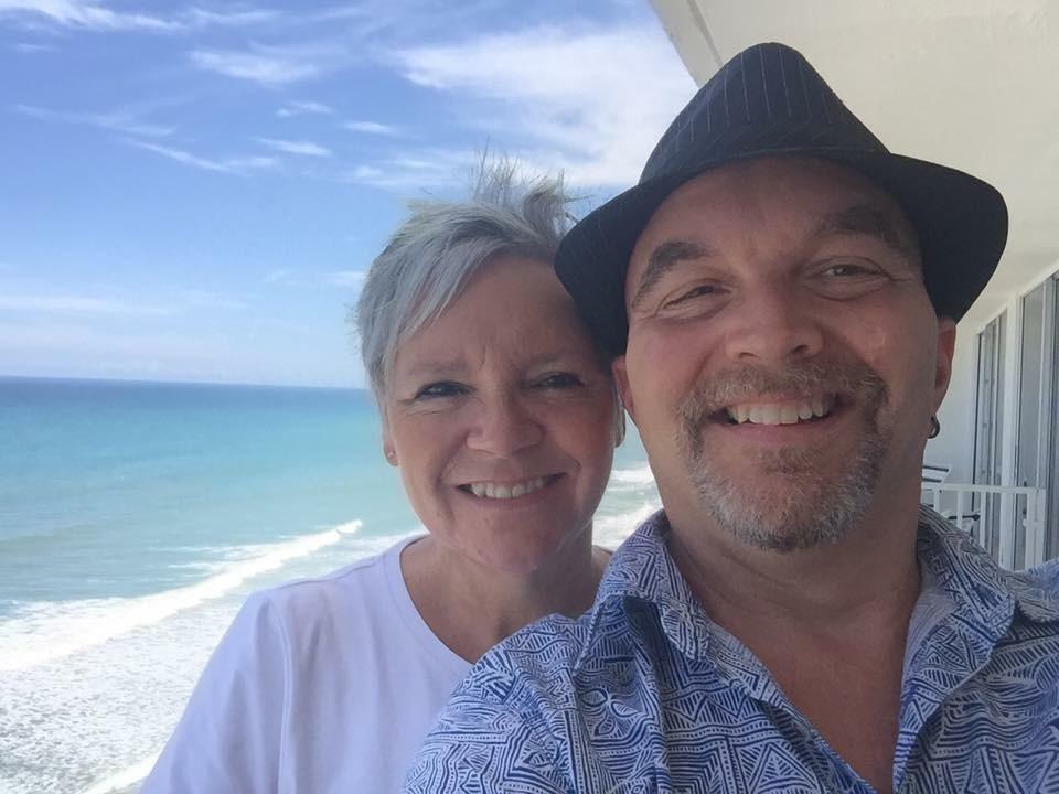 Jennifer Hodgett and husband Scott just days before Irma struck.
