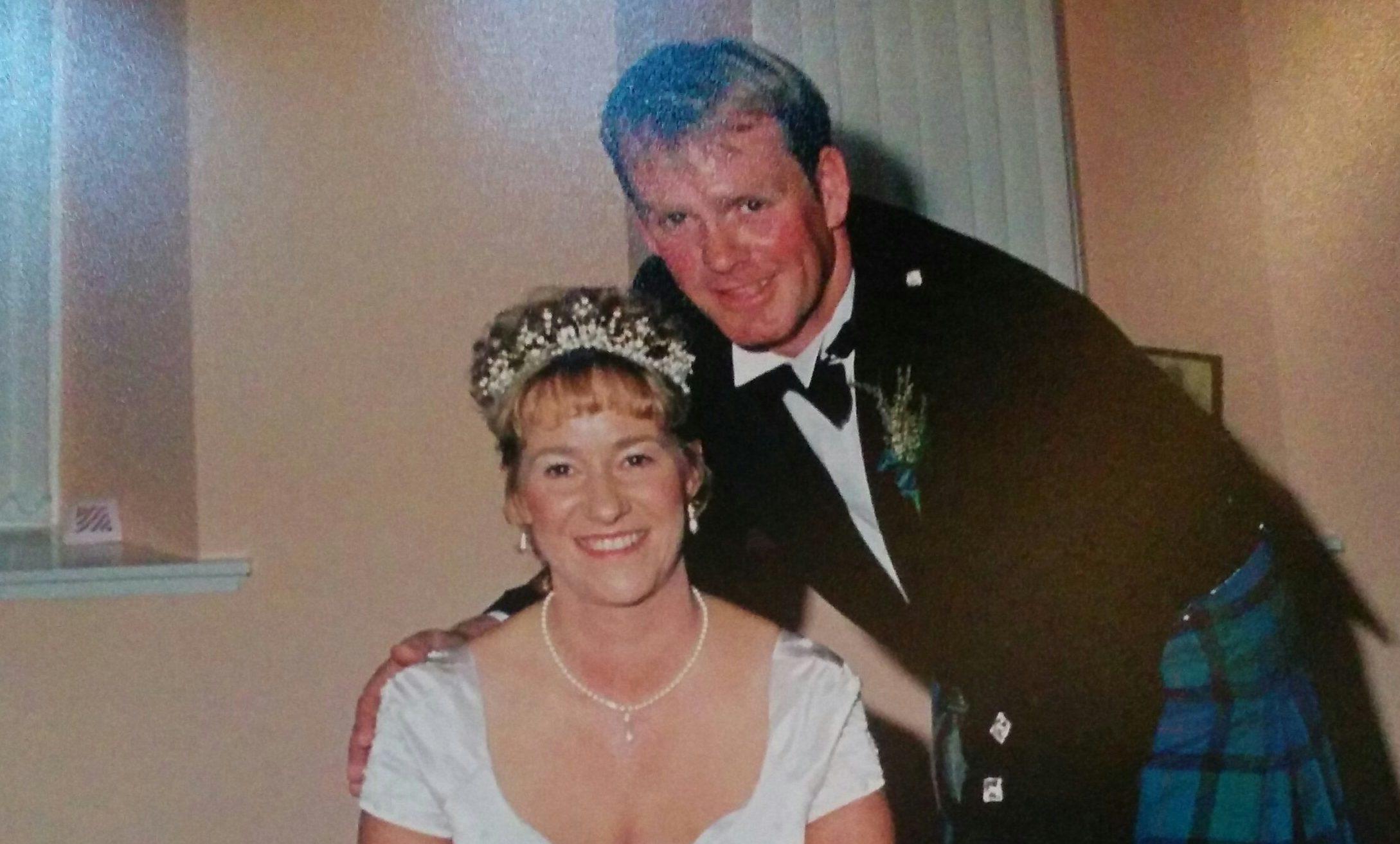 Ian and Lorna on their wedding day.
