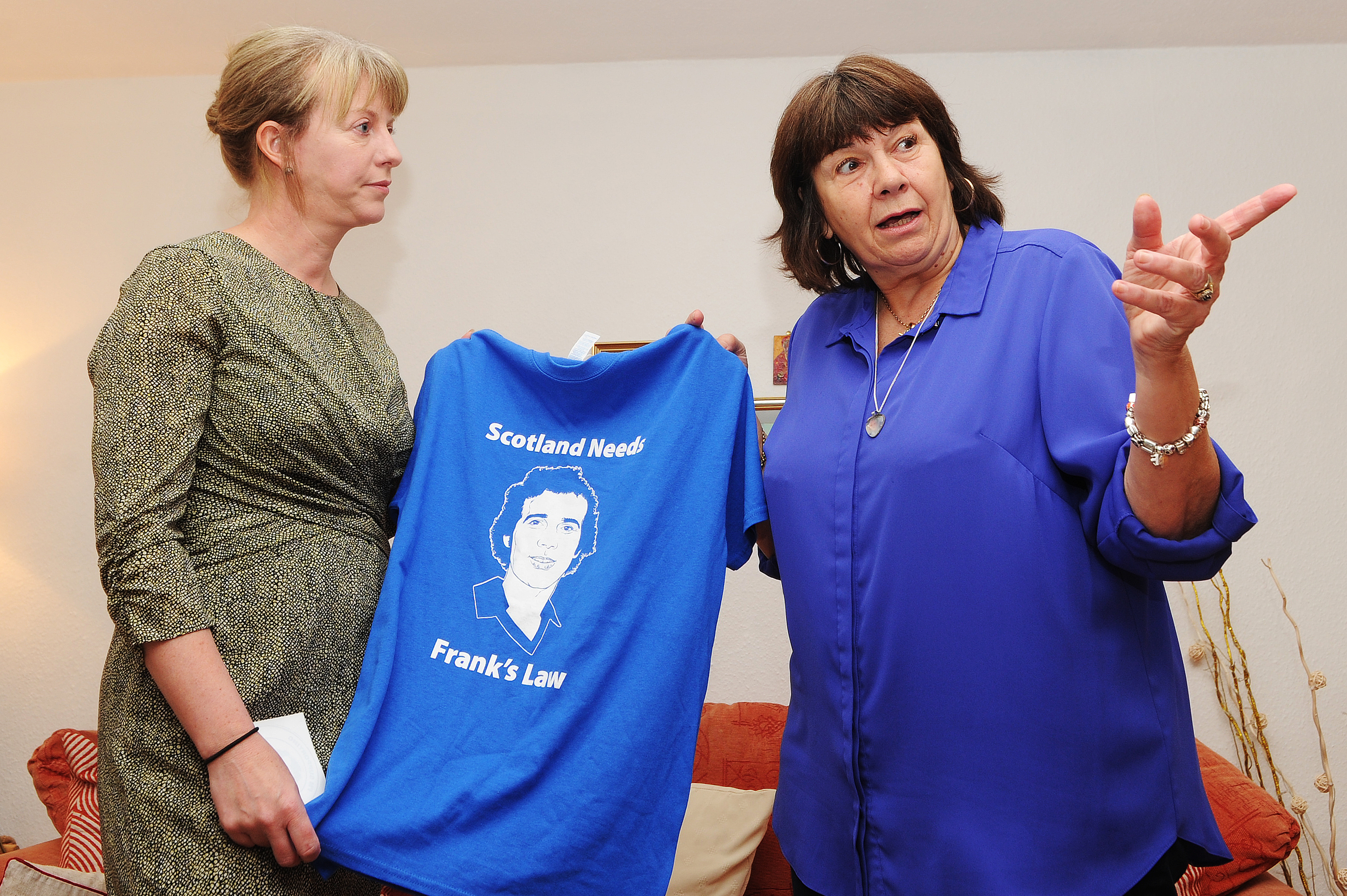 Health Secretary Shona Robison with Frank's Law campaigner Amanda Kopel.