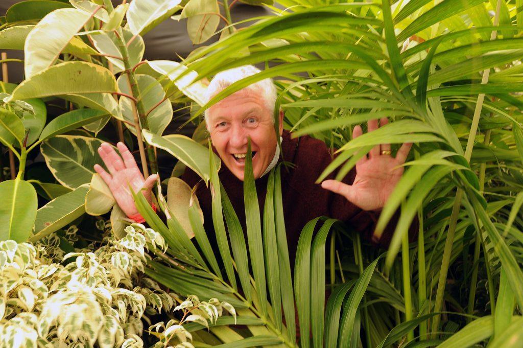 Gordon Ramsay (Development Officer with Dundee Botanical Gardens Endowment Trust) on the Botanical Gardens stand.