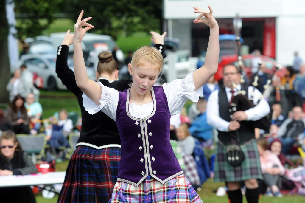 The festival's Highland Dance competition in 2017.