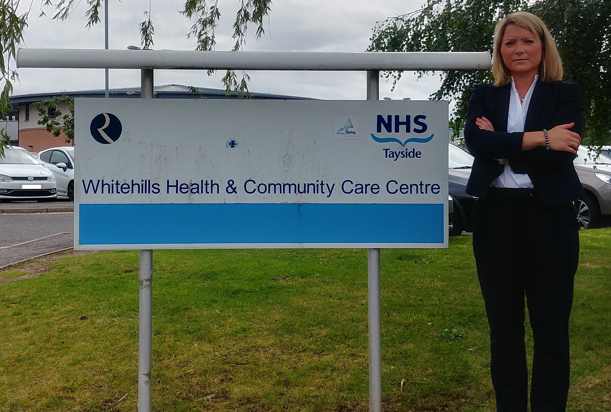 Angus MP Kirstene Hair has raised concerns over the future of the hospice