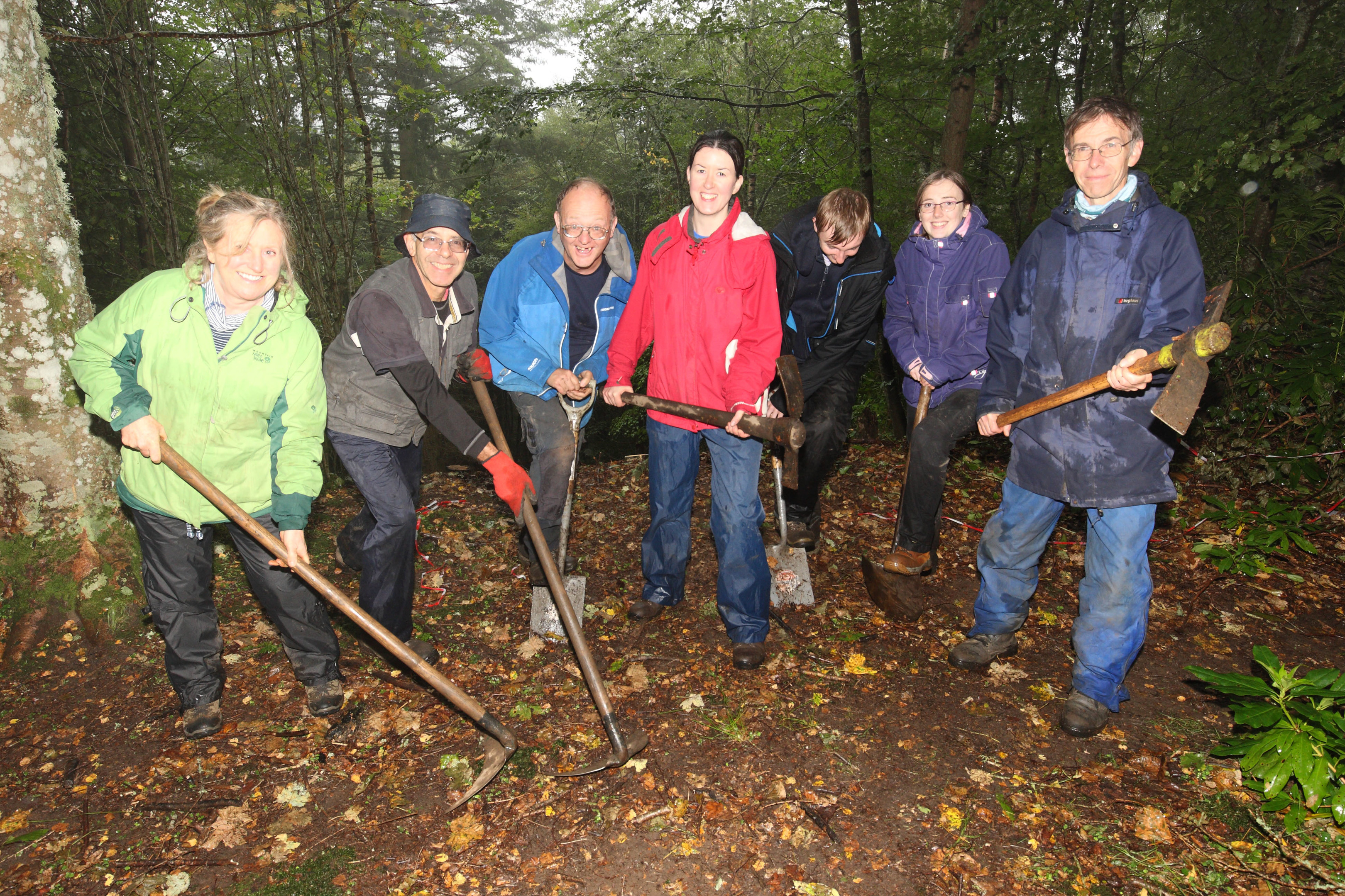 Sarah Malone and volunteers start to excavate on King's Seat Hillfort near Dunkeld: Picture by Phil Hannah