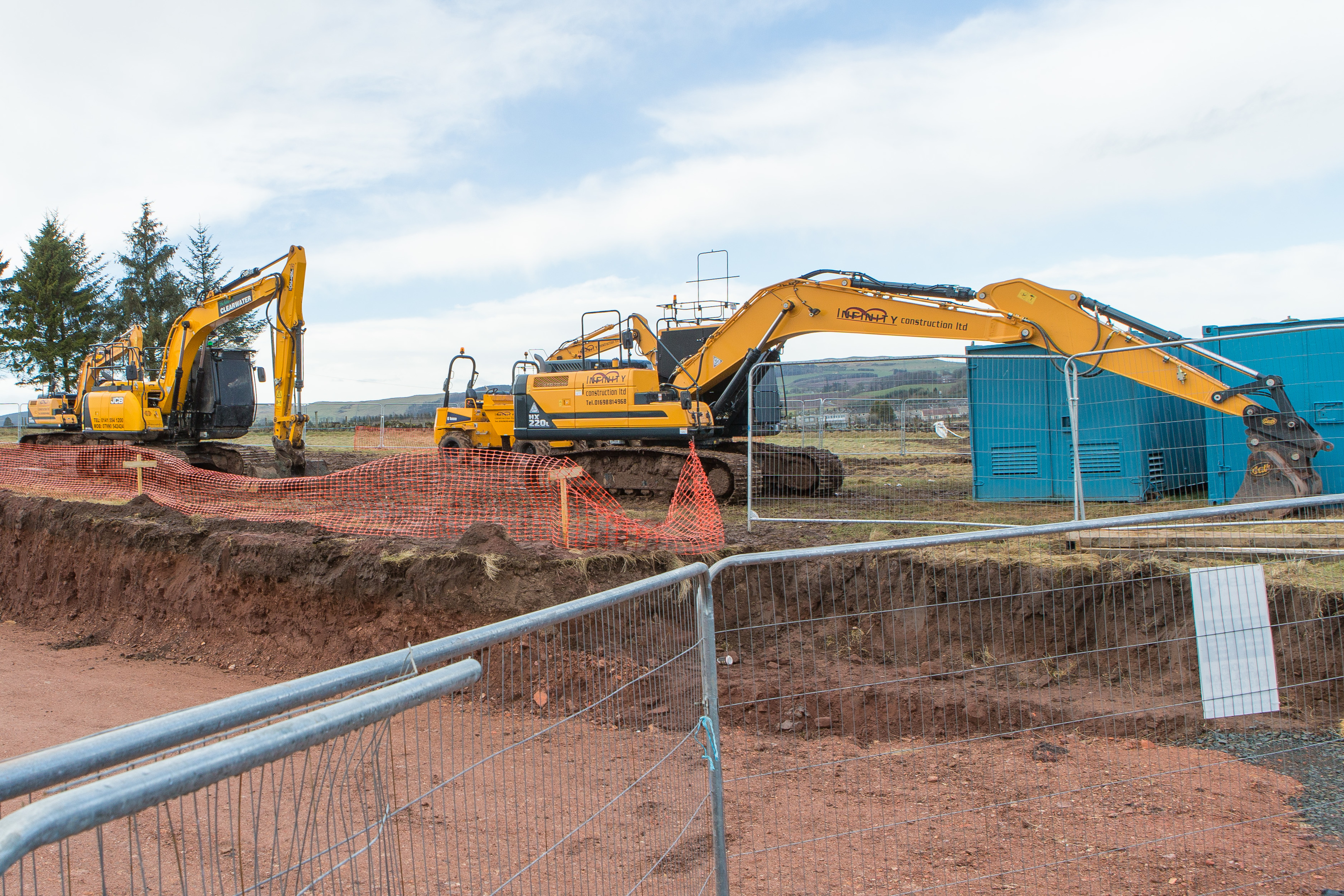 Work at Lathro Farm on edge of Kinross