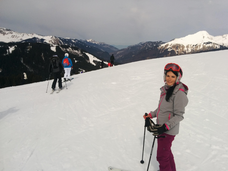 Gayle takes to the slopes around Morzine.