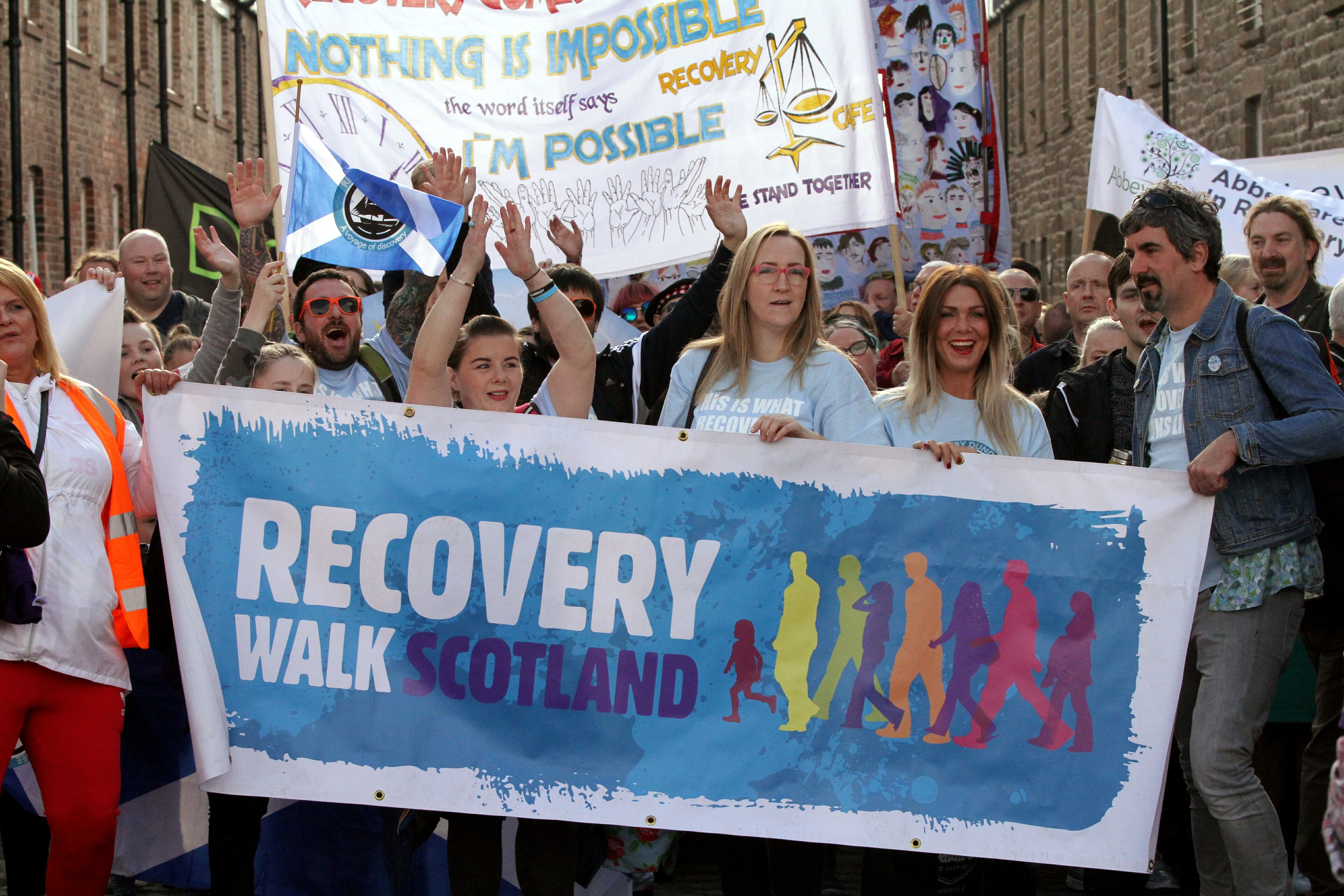 The group also hosted September's Recovery Walk