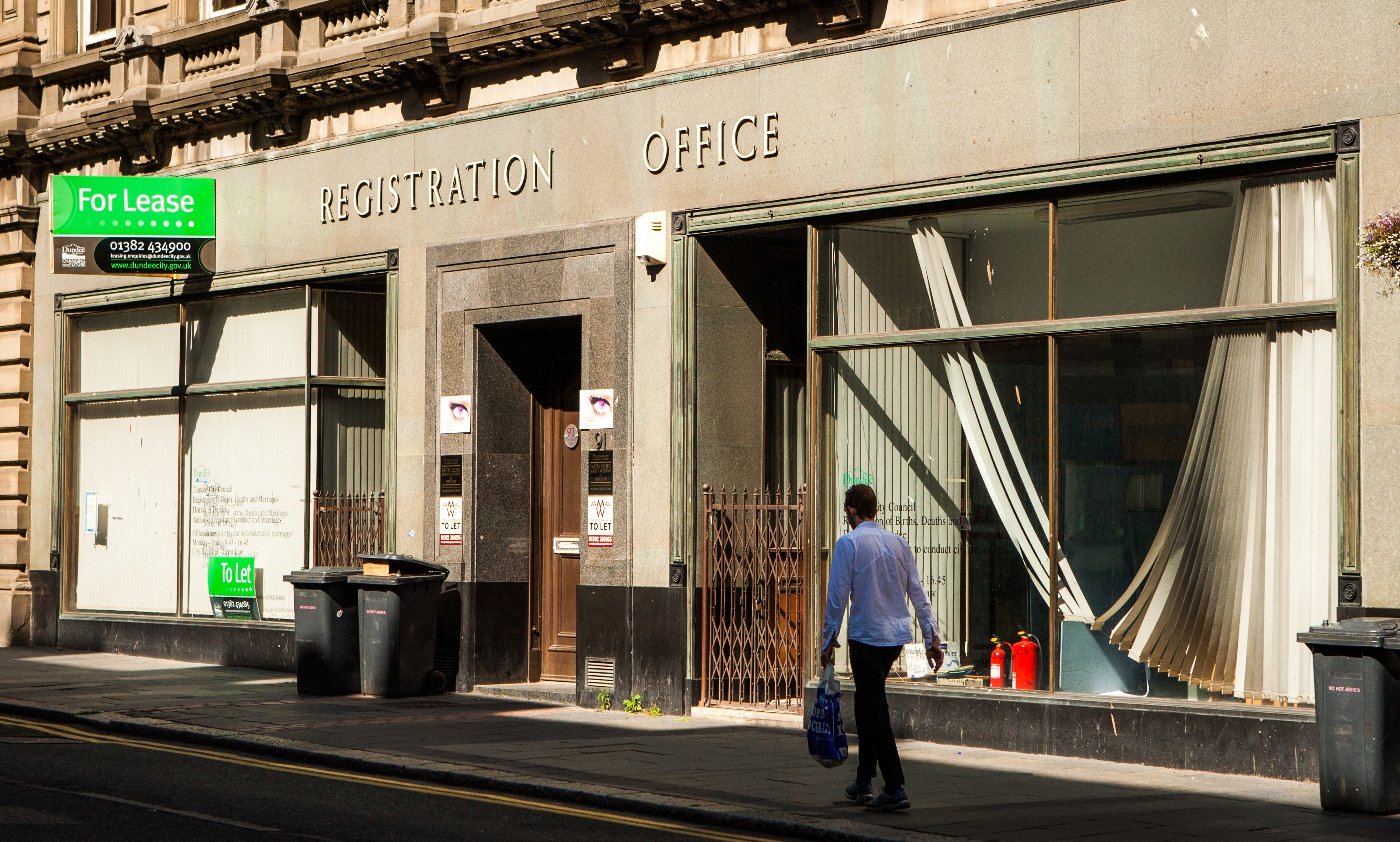 The former Registration Office had been available for lease since 2015.