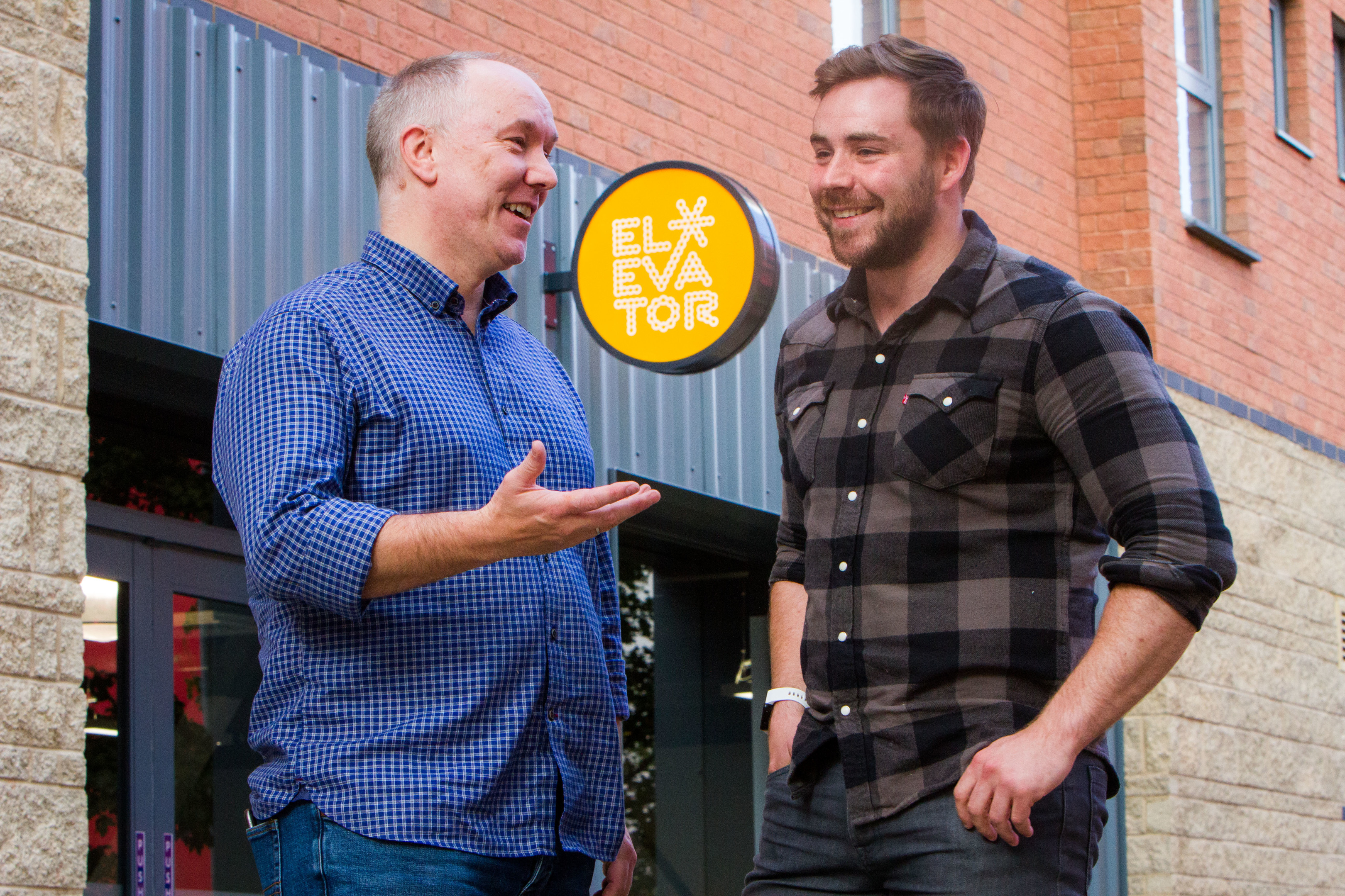 Andy Campbell (left, Accelerator Manager) and Ross Cairney (right, Communications Coordintaor).