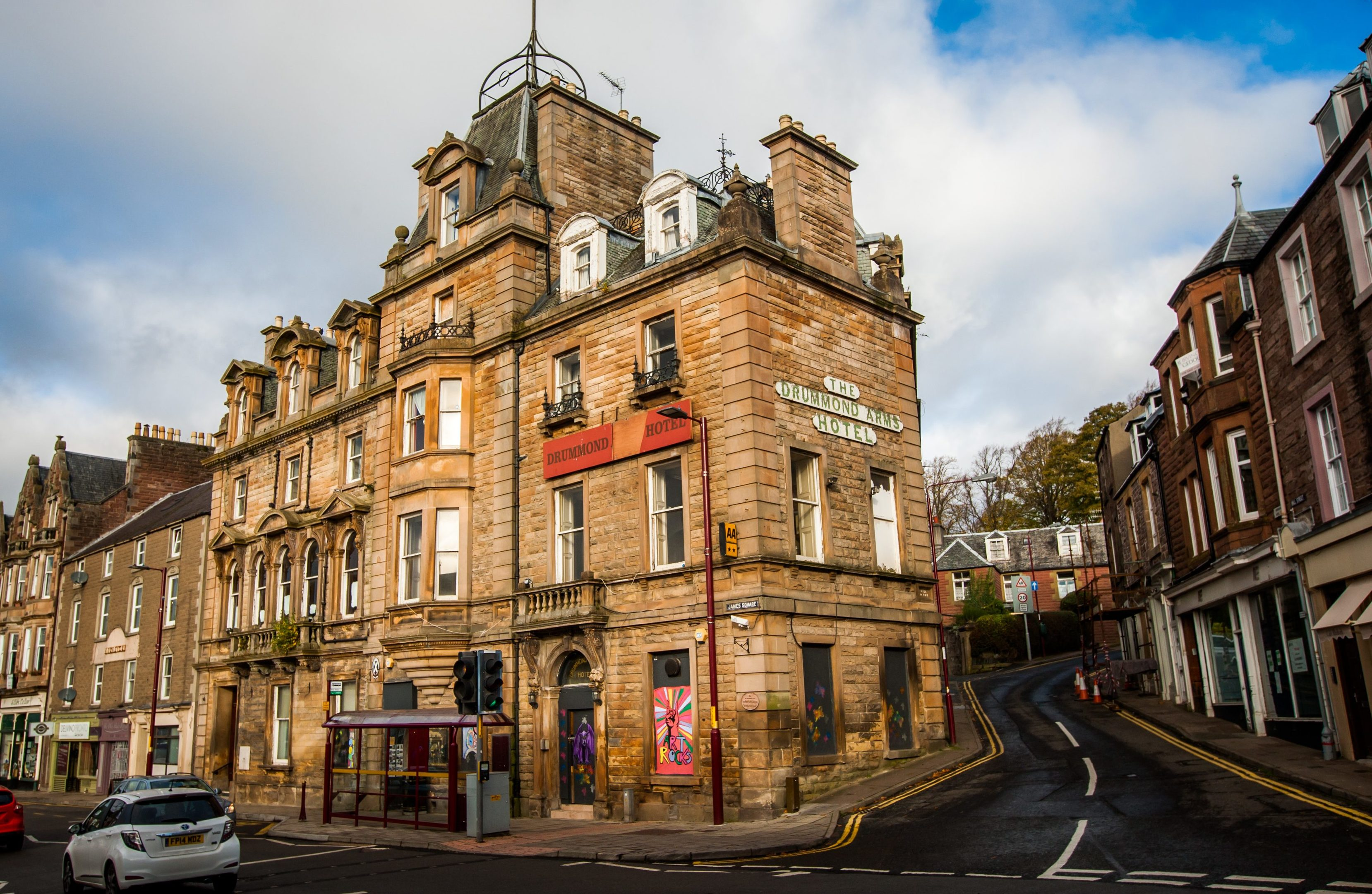 The Drummond Arms Hotel. High Street, Crieff.