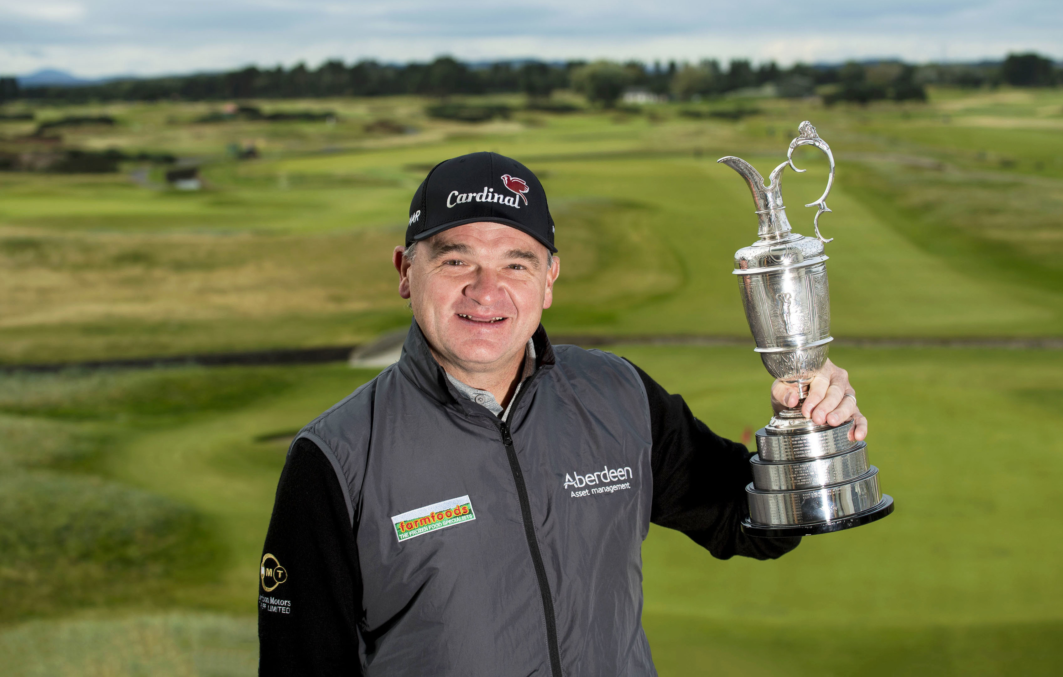 Paul Lawrie with the Claret Jug as he returns to the scene of his victory in 1999.