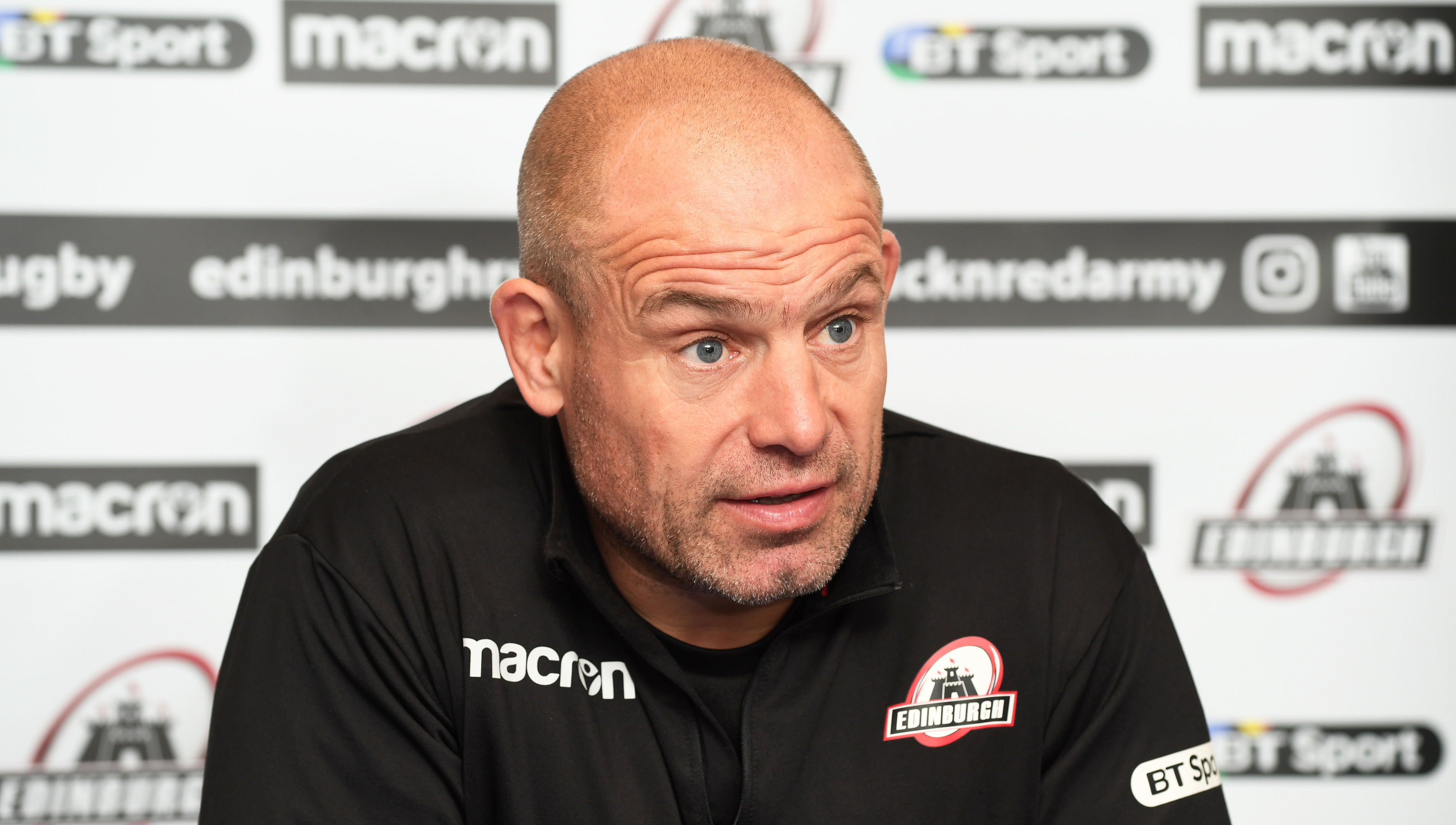 Edinburgh head coach Richard Cockerill in sombre mood after last week's loss to Benetton.