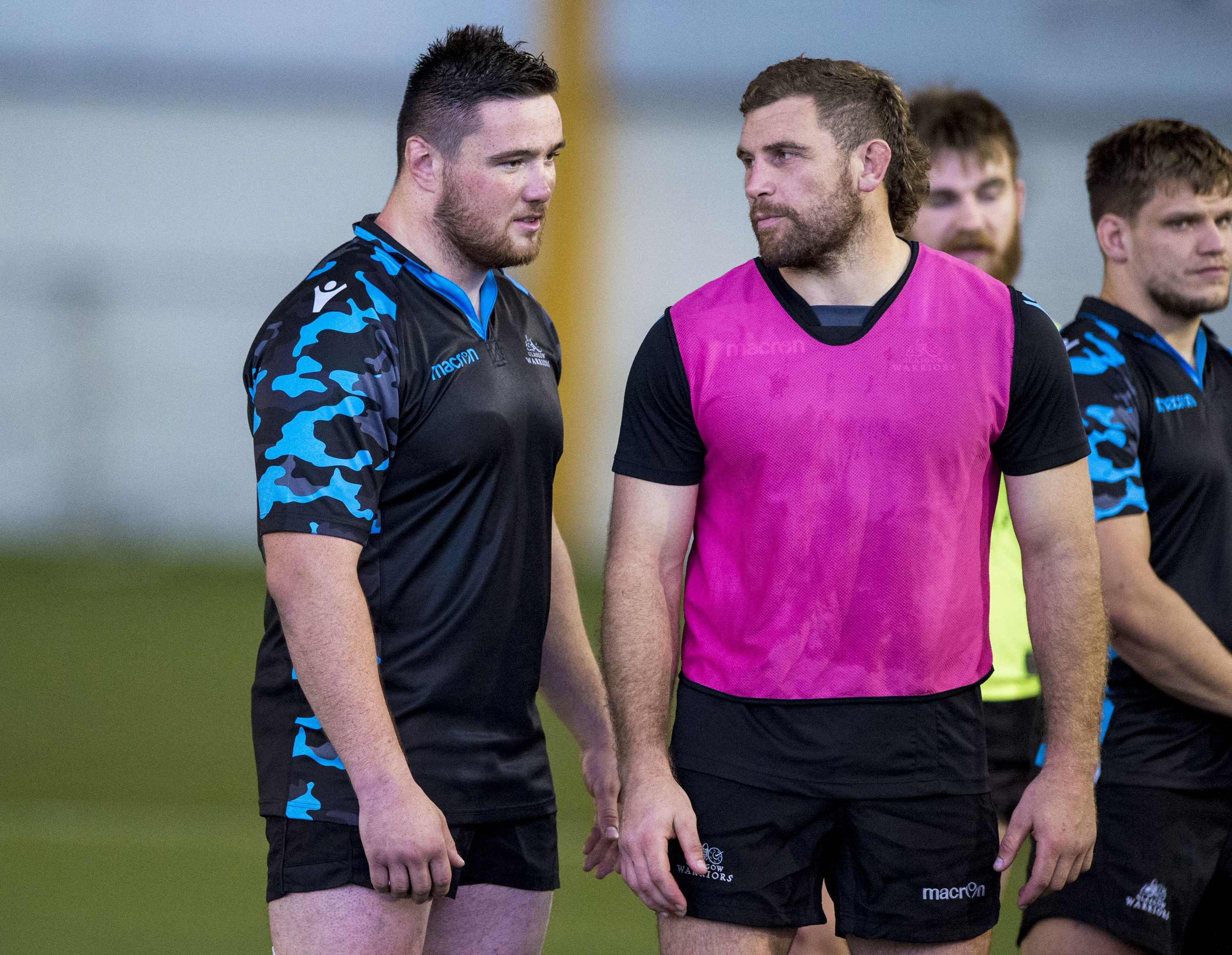 Glasgow Warriors' Zander Fagerson (L) and Callum Gibbins have both been outstanding this season.