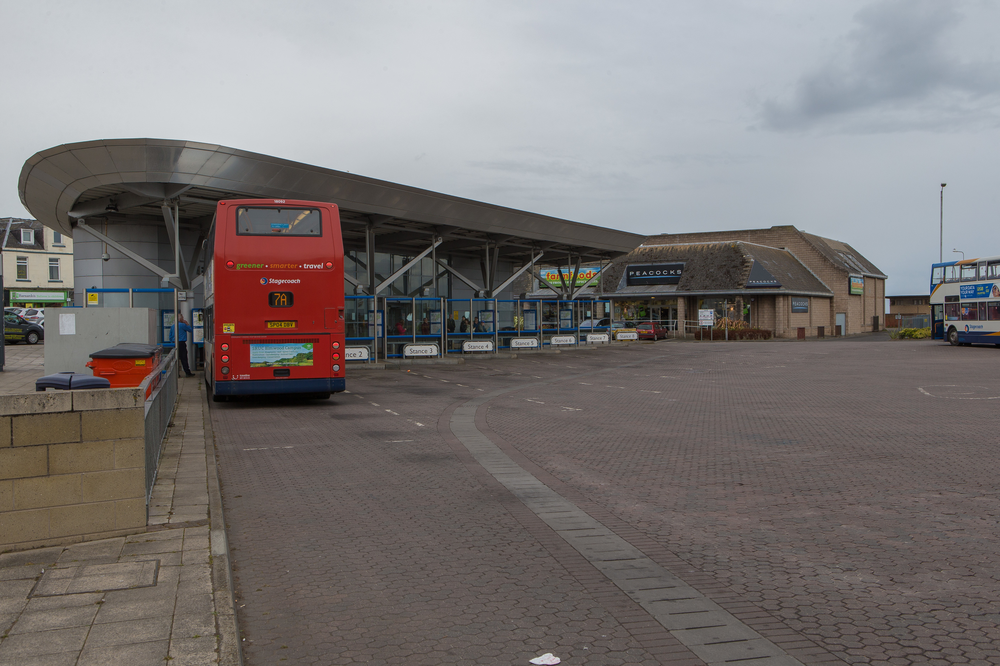 Police swooped on Leven Bus Station after a 16-year-old was seriously assaulted