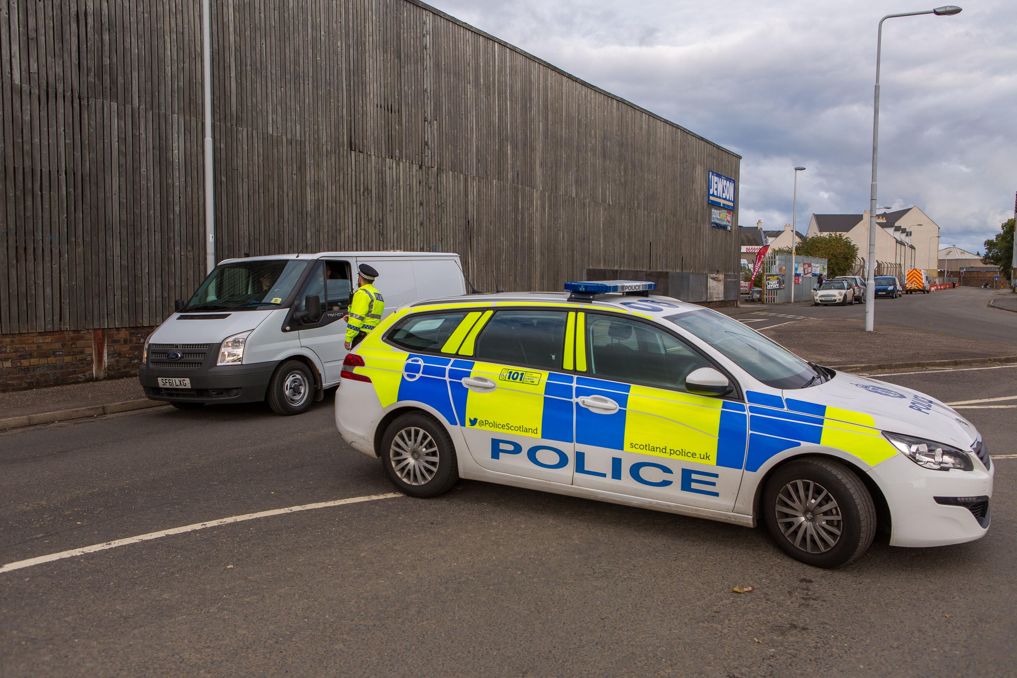 The scene in Denburn Road, Kirkcaldy, last Thursday after the body of missing Libbi Toledo was found.