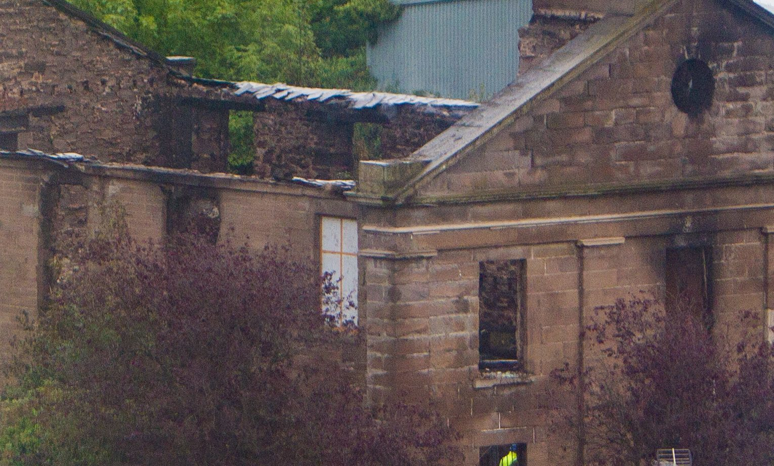 The blaze has left only a shell of a building at Lochee Old Church.
