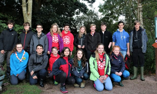 Explorer Scouts rolled up their sleeves to aid environmental efforts at Cupar's Tarvit Pond in 2017