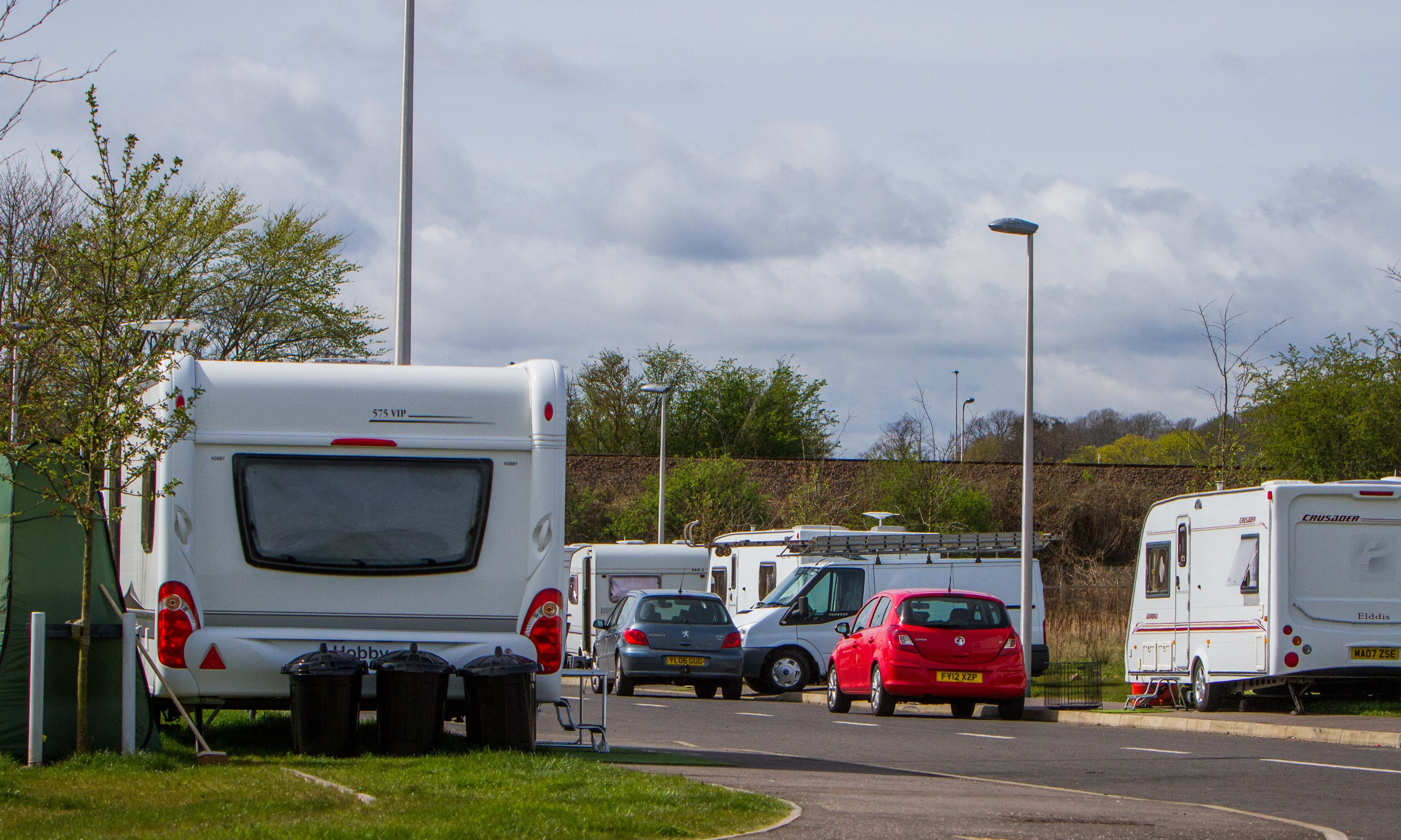 Travellers have returned to  Perth's Food and Drink Park days after this community was moved on