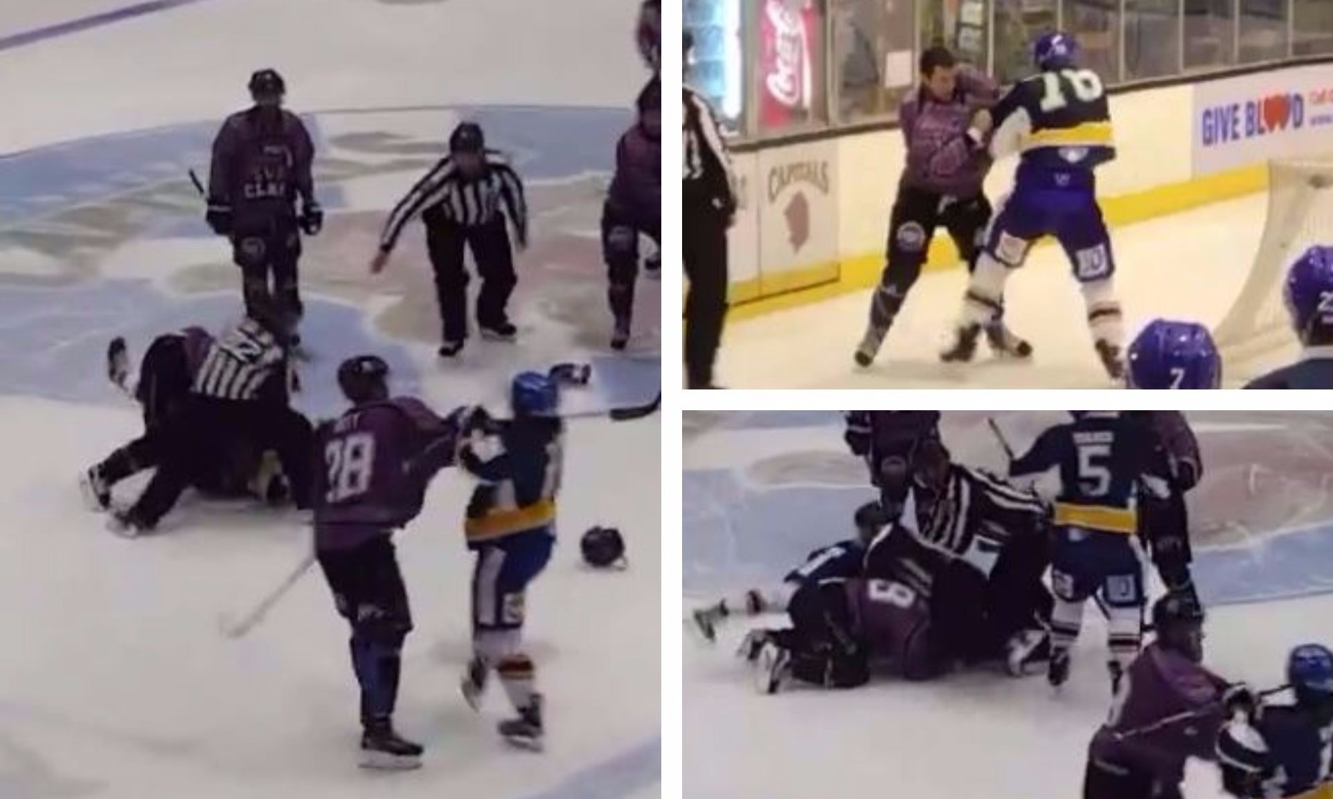 Fife Flyers and Braehead Clan players scrap at the Elite Scottish Cup final.