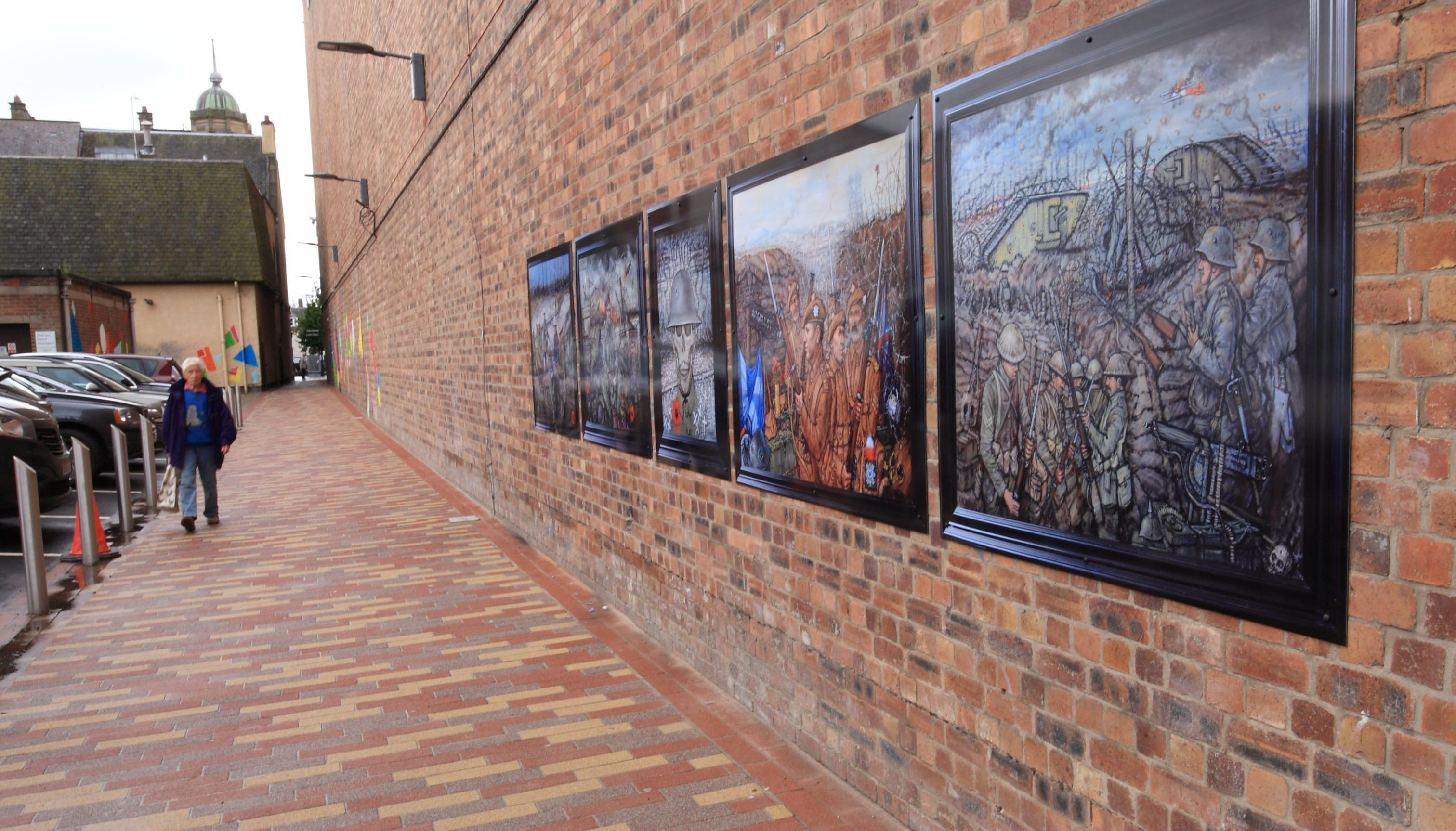 The First World War murals in Perth.