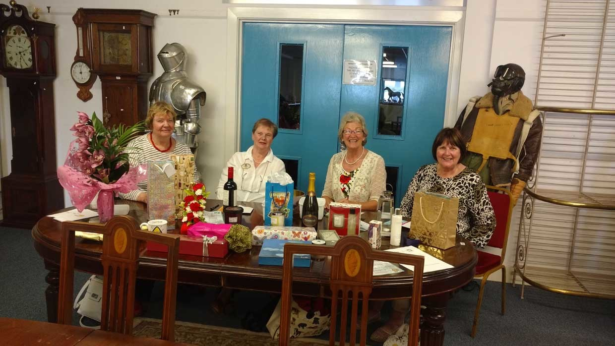 From left, Anne Gaunt, Muriel Hardy, Mary Faulkner and Hazel Shepherd at the launch.
