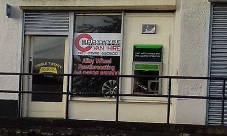 The cash machine in Kirkcaldy