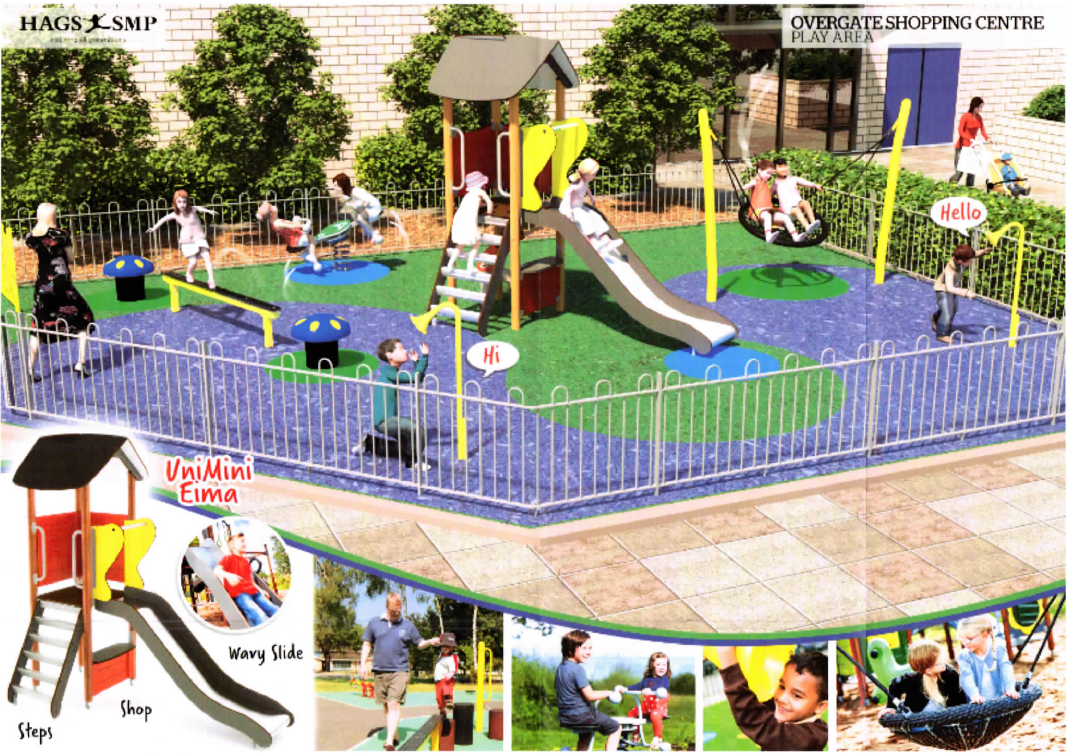 An impression of how the play area might look.