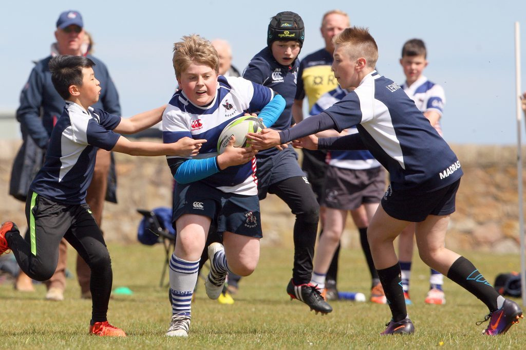 More than 500 children from Fife and Dundee competed for the Fife and Forfarshire Cup hosted by Madrascals. Picture shows Madras V Howe of Fife in May.