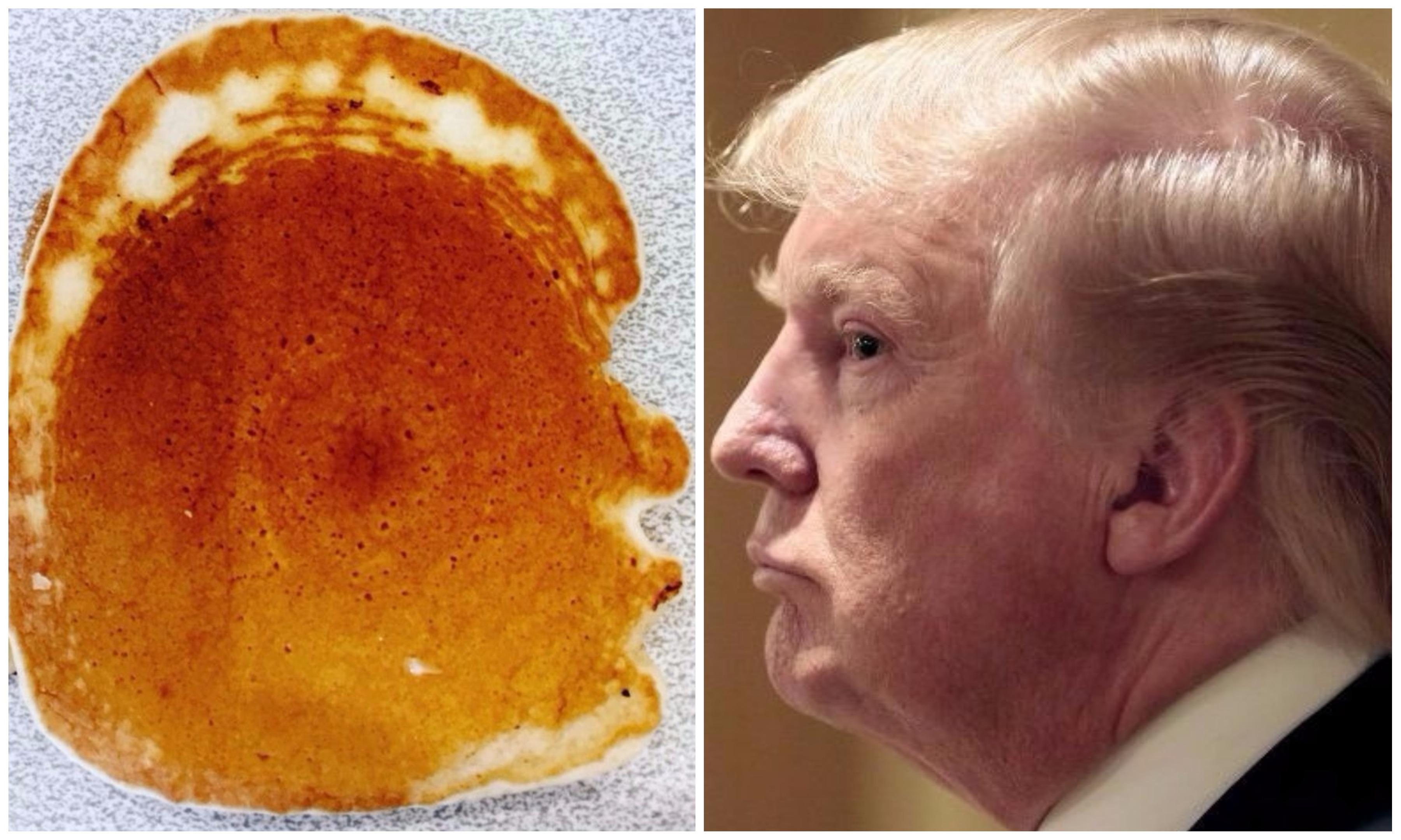 Left: The pancake. Right: the president.