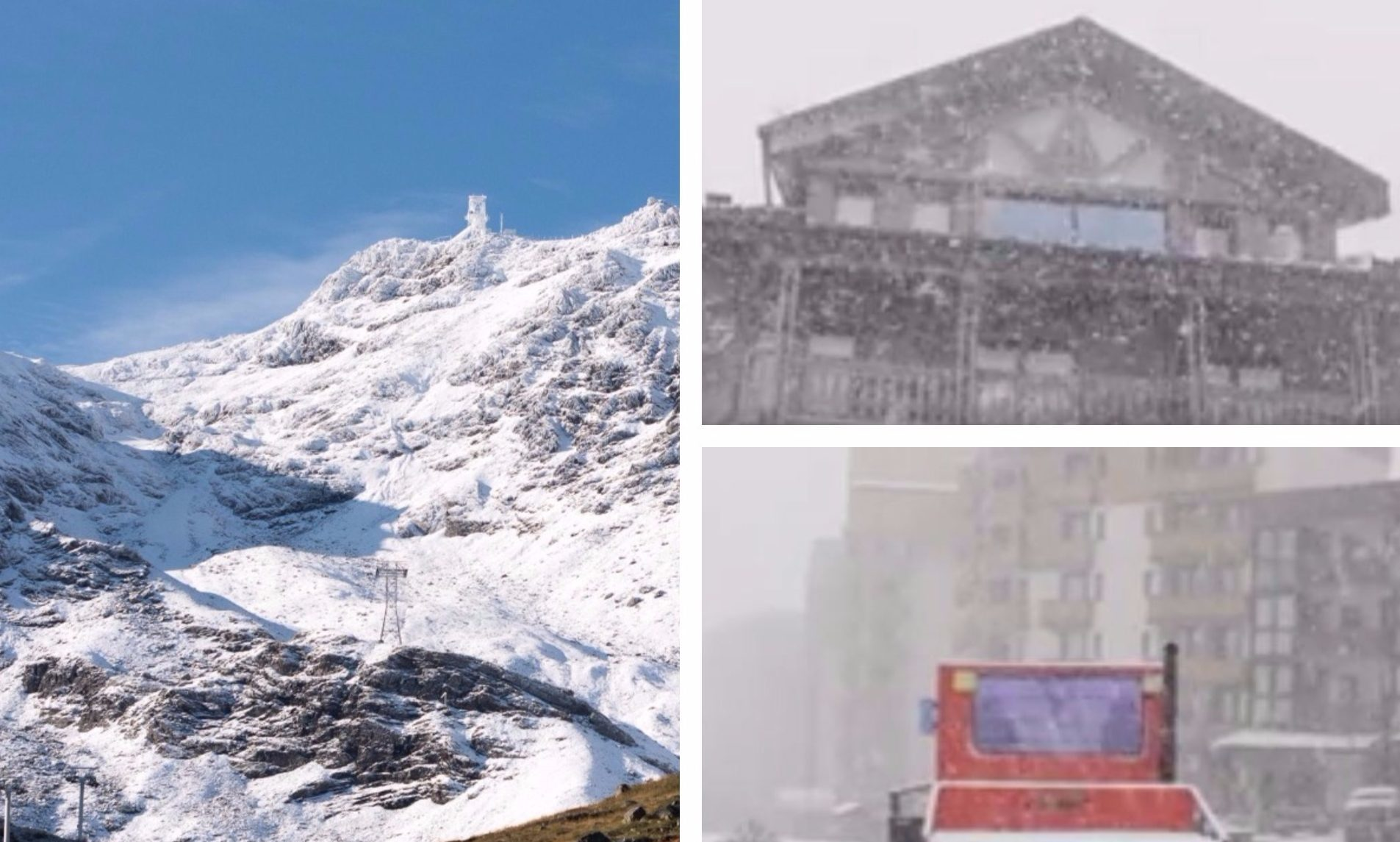 Snow blasts Val Thorens in the first weekend of September.