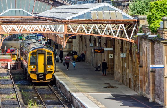 Buses are replacing trains between Perth and Pitlochry.