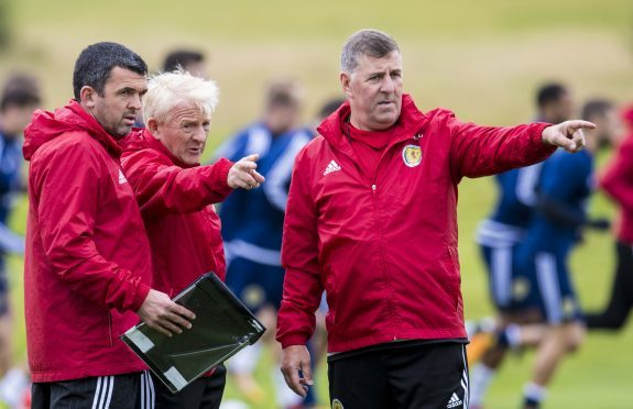 Callum Davidson at Scotland training.