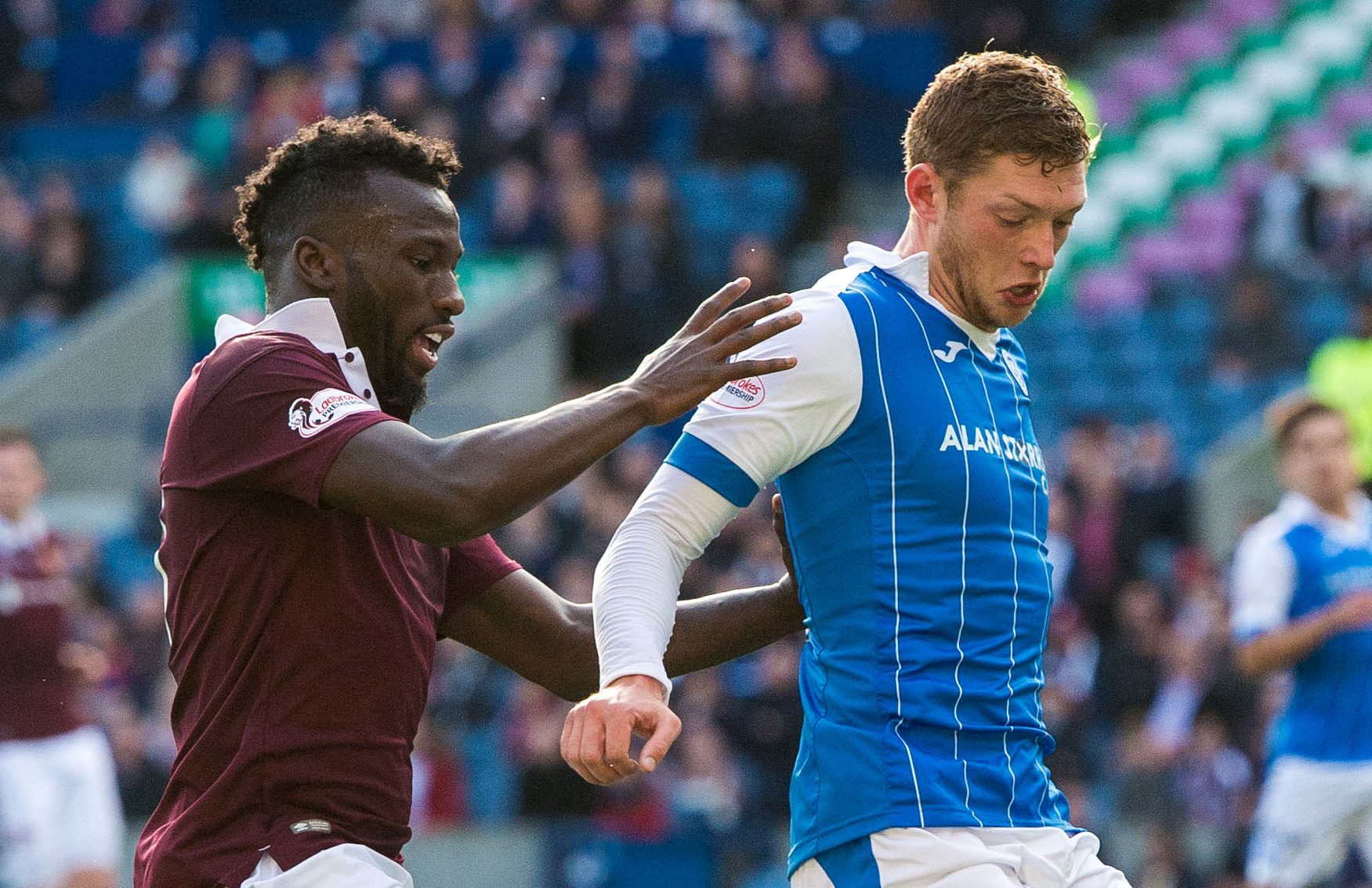 Liam Gordon in action against Hearts.