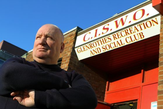 David Nelson outside the CISWO in Glenrothes.