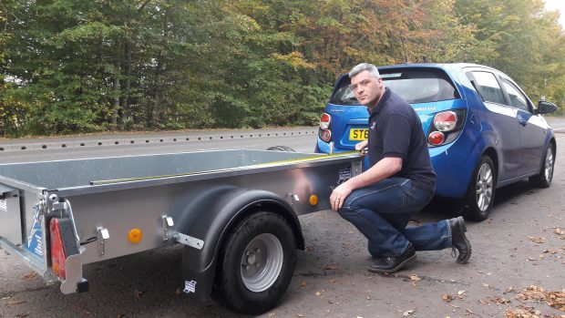 Ian McIntosh with a trailer which would fall foul of the new rule