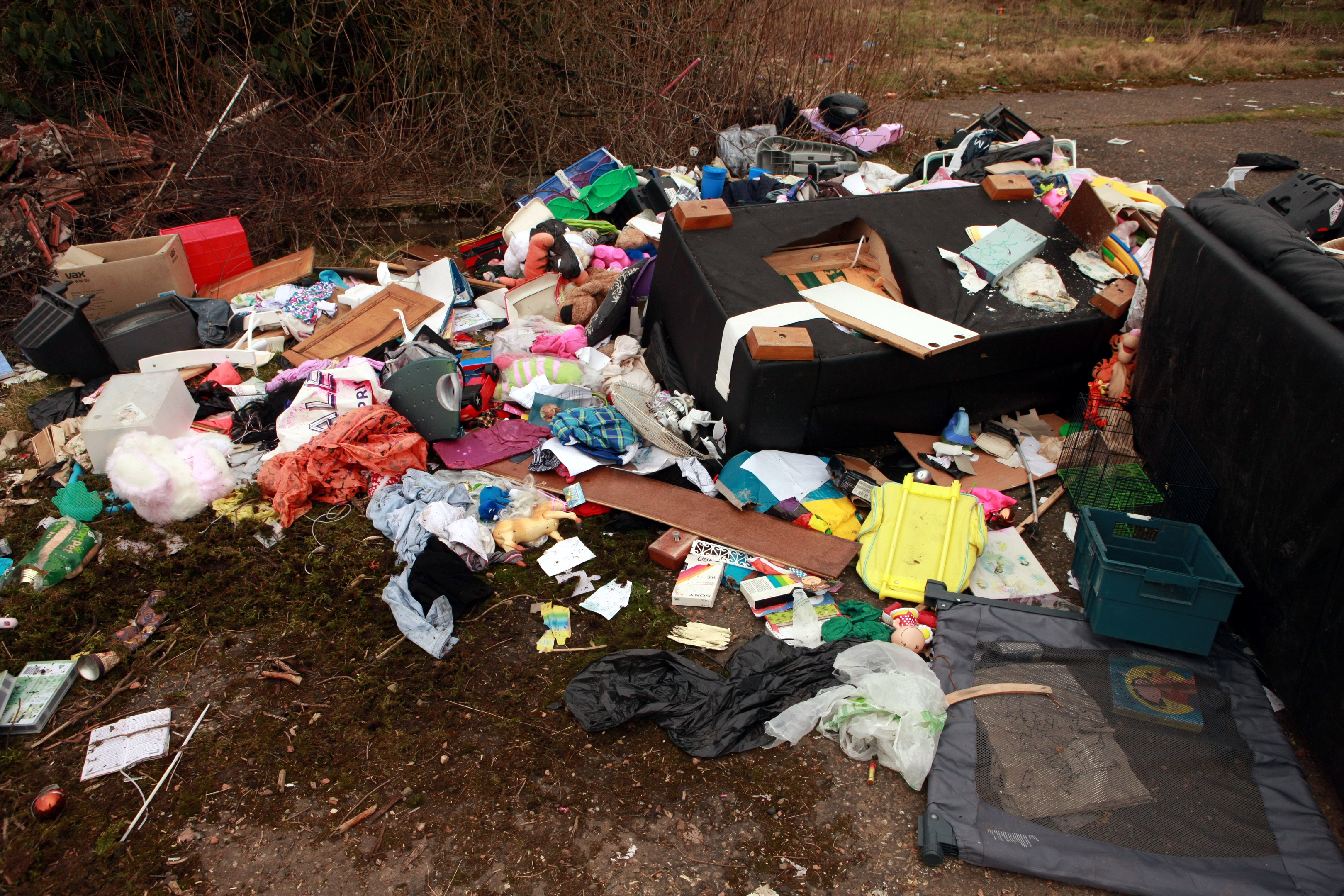 Fly-tipping in Dundee.