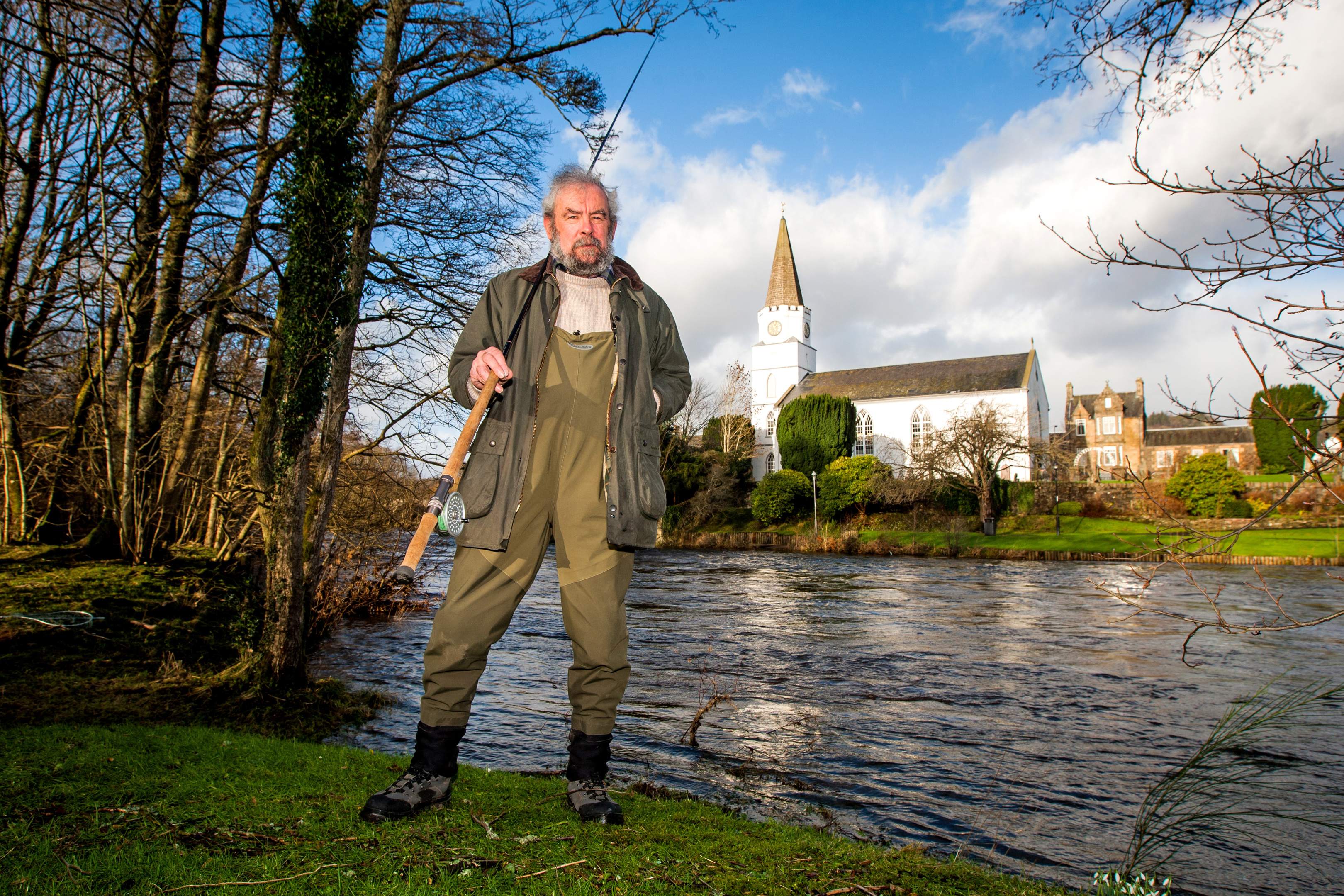 Pat Silvey, of Comrie Angling Club, is concerned about the proposed recategorisation.