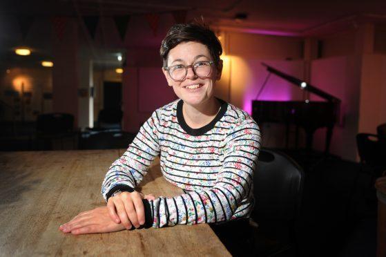 Literary Festival manager Peggy Hughes