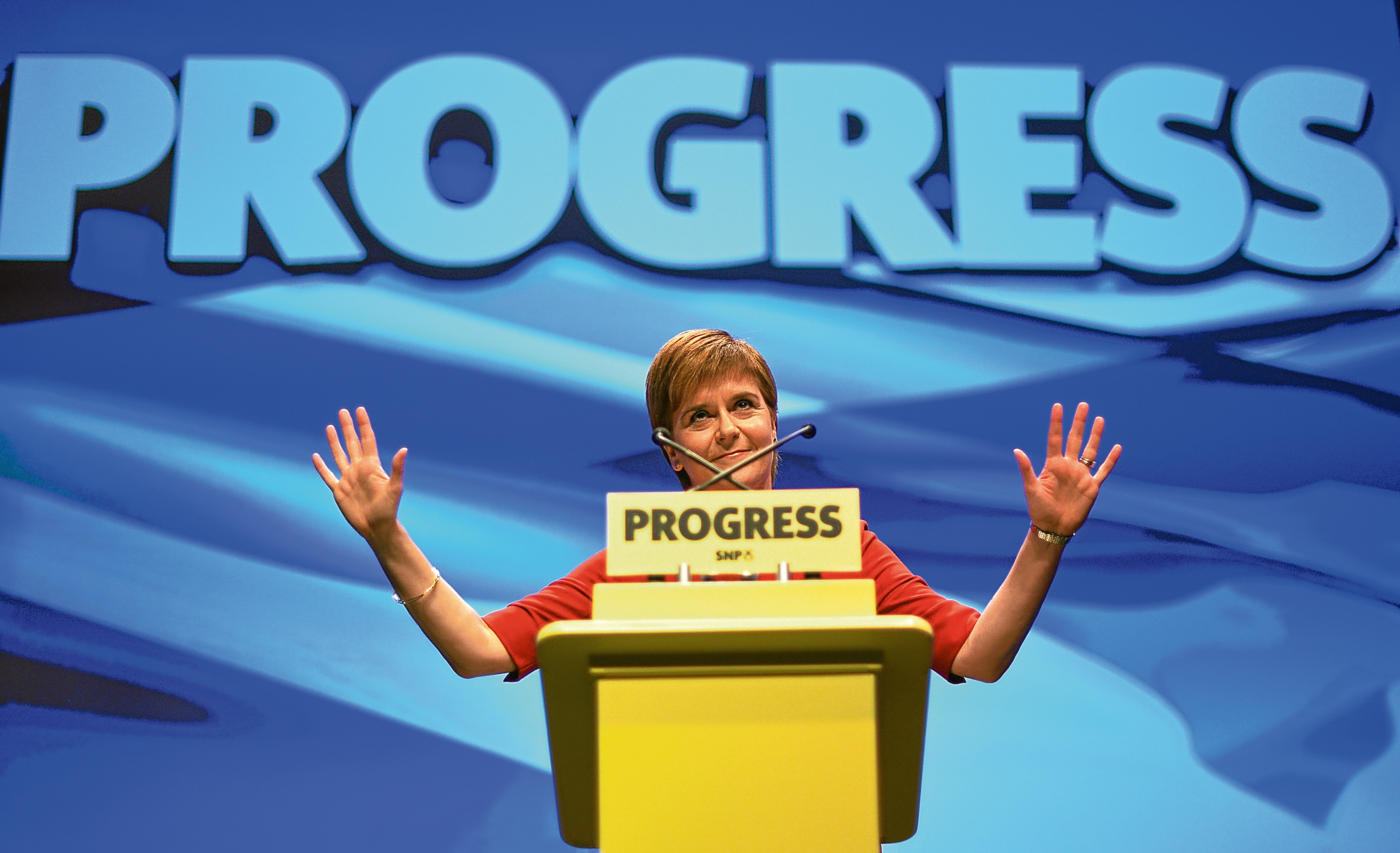 Nicola Sturgeon at the SNP conference in October.