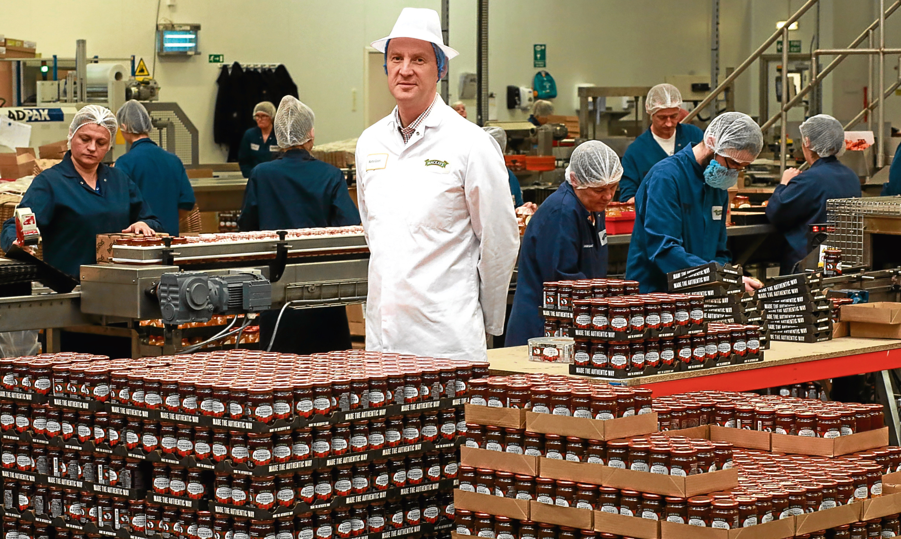 Mackays managing director Martin Grant  oversees operations in the existing packing hall.
