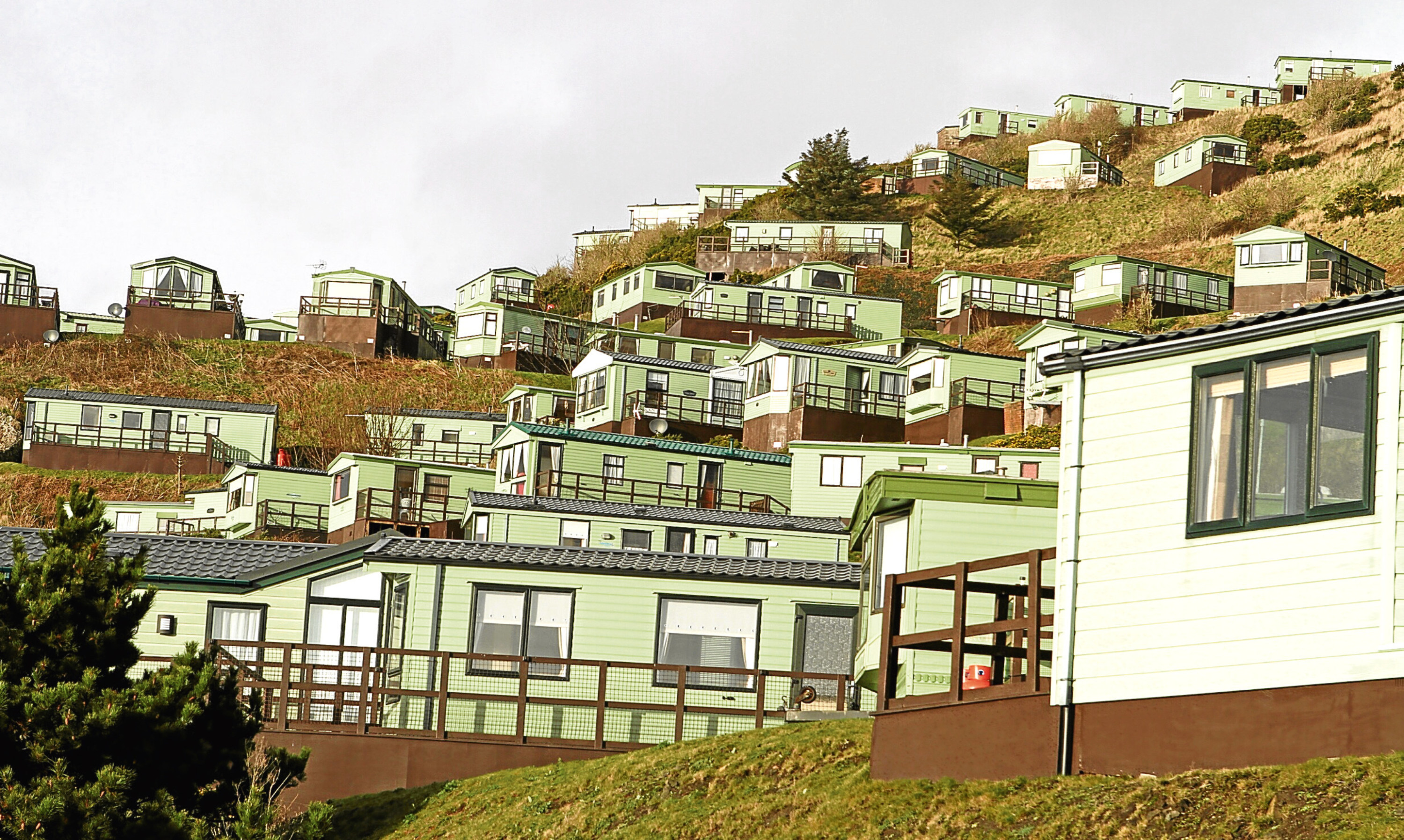 A view of Pettycur Bay Holiday Park