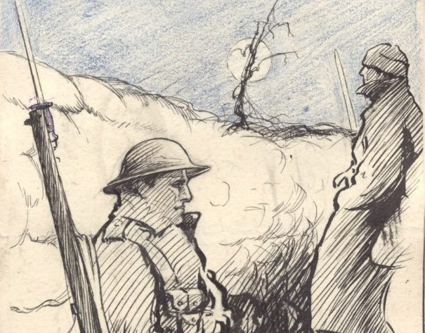 (TODAY) Collect Pic: The Central Scotland News Agency File Name: m88-1-1p2 Joseph Lee portrait, 1916.jpg  POIGNANT 1916 FLANDERS TRENCH SKETCH BY JOSEPH LEE -- SCOTLAND'S GREAT LOST WAR POET AND ARTIST. ONCE KNOWN AS DUNDEE'S BATTLE BARD AND A CONTEMPORARY OF FAMOUS WAR POETS WILFRED OWEN AND SIEGFRIED SASSOON, DUNDEE ACADEMICS HOPE TO BRING HIM TO A NEW AUDIENCE WITH THE LAUNCH OF NEW POETRY ANTHOLOGY THIS WEEK. SEE STORY FROM LAURA PATERSON.  Tel: 01786 462423. Pic Editor's mobile: 07768 302285 E-mail: pix@thenewsagency.com