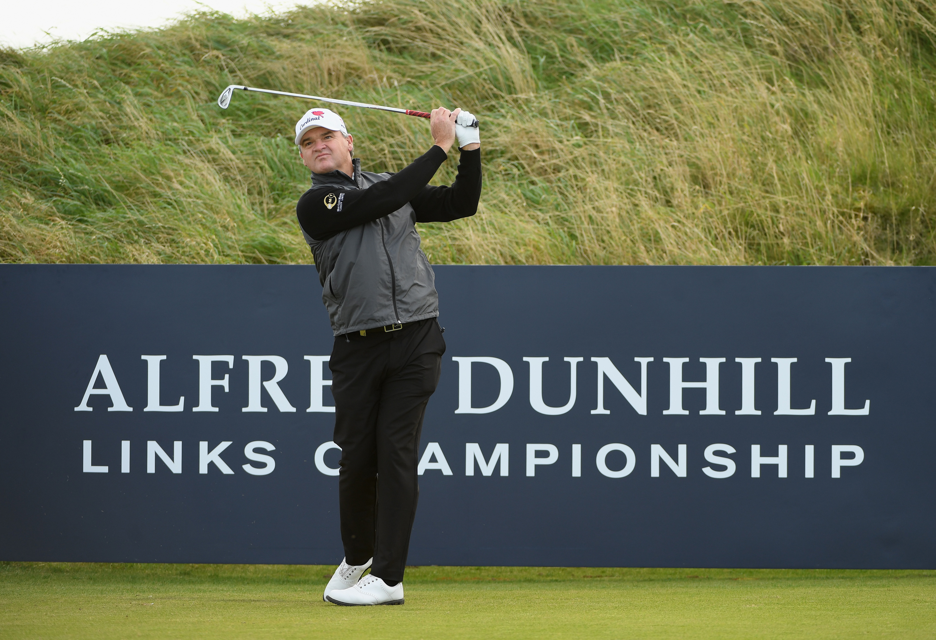 Paul Lawrie in practice at Kingsbarns prior to the 2017 Alfred Dunhill Links Championships.