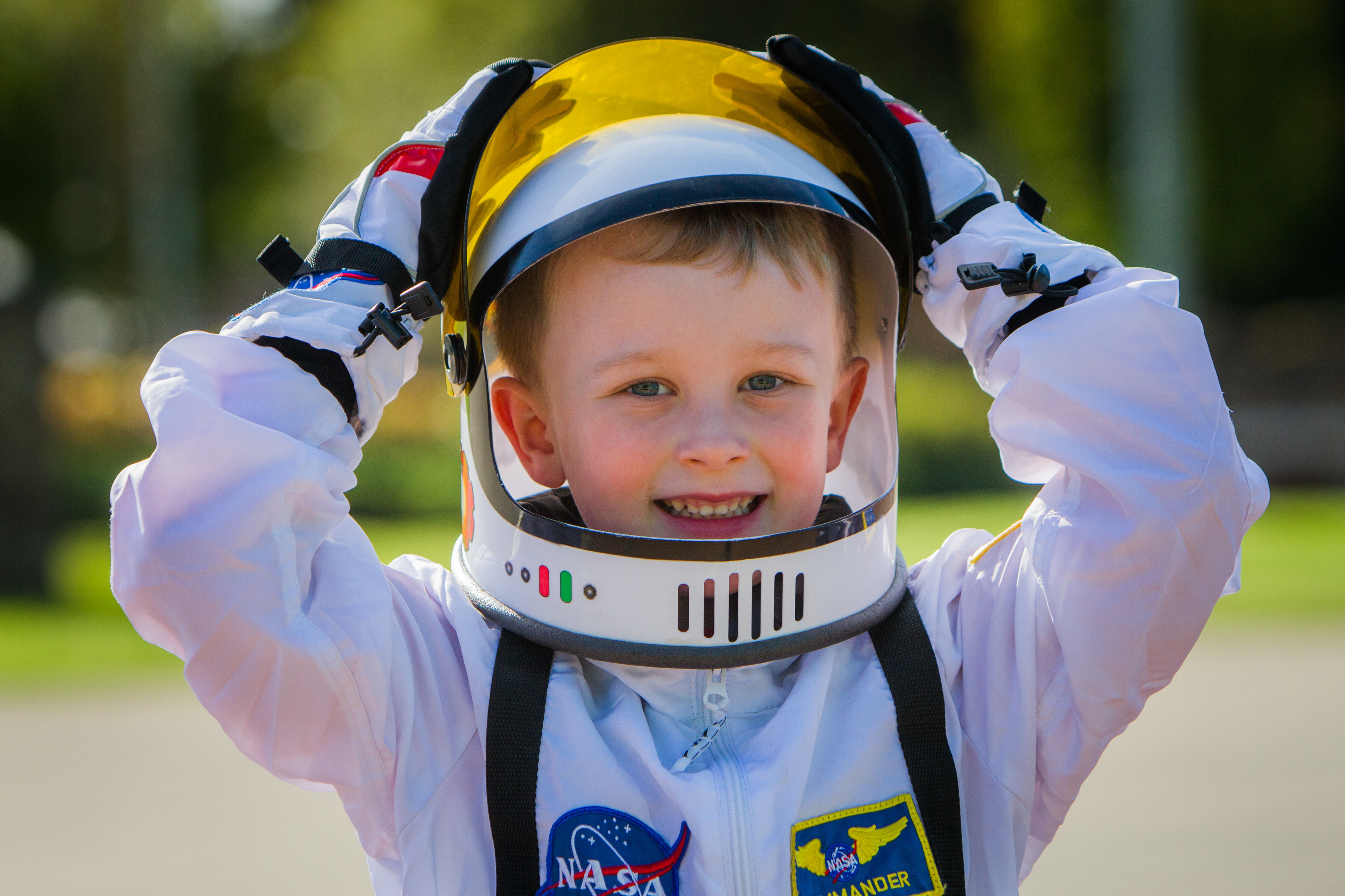 Samuel Mckay (aged 5) from Kinross at the Out of This World event.