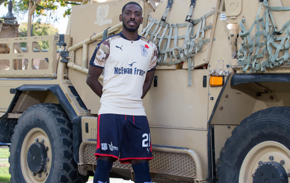 The shirt will help raise money for SSAFA - the armed forces charity